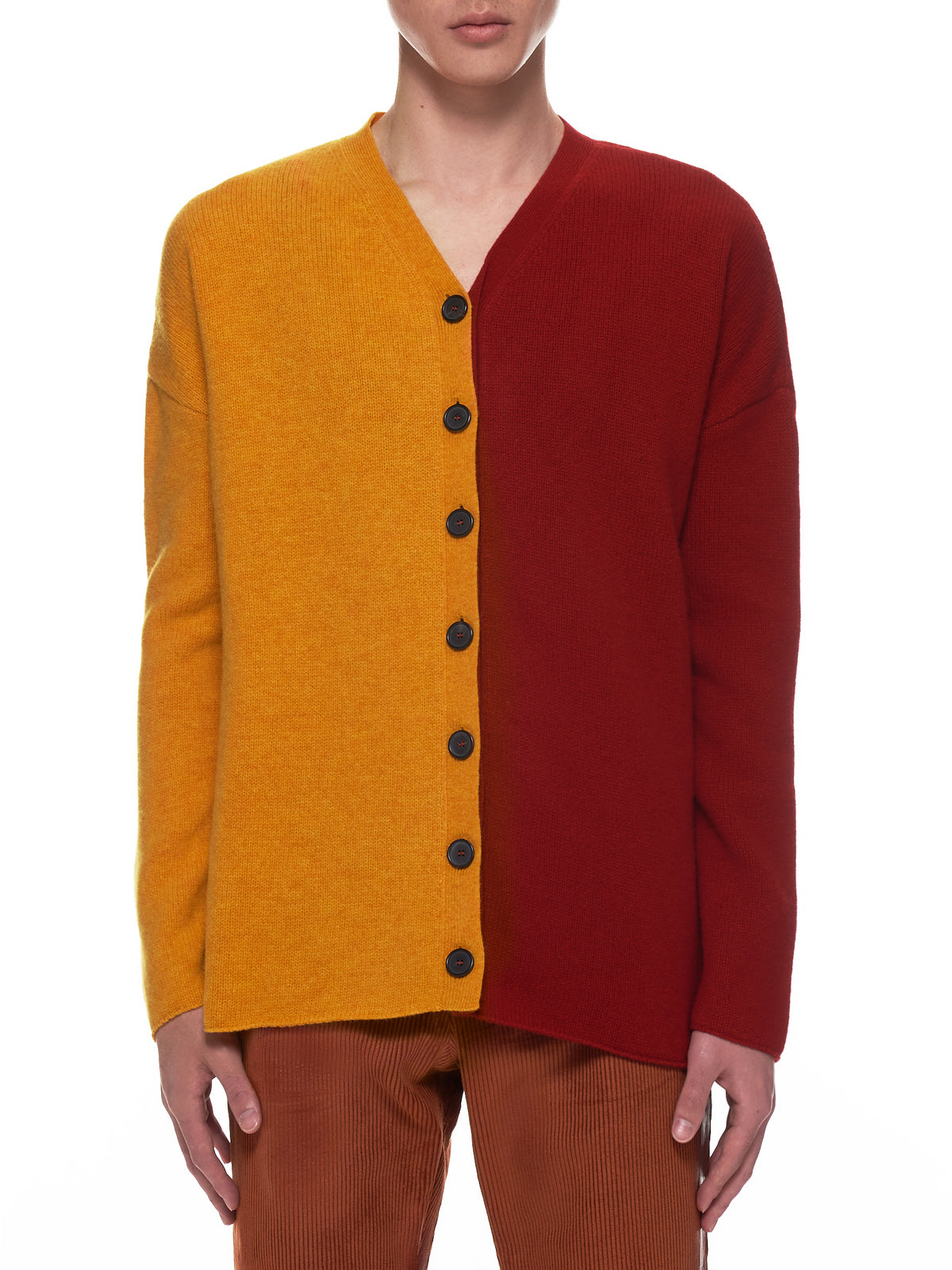 Bico Oversized Cardigan (H526333X53-ORANGE-RED)