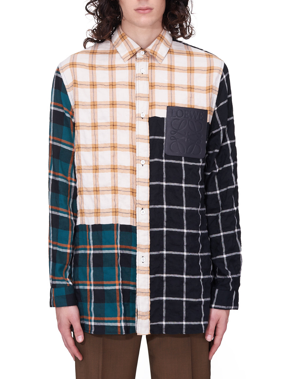 Check Modal Overshirt (H526Y05W01-MULTICOLOR)