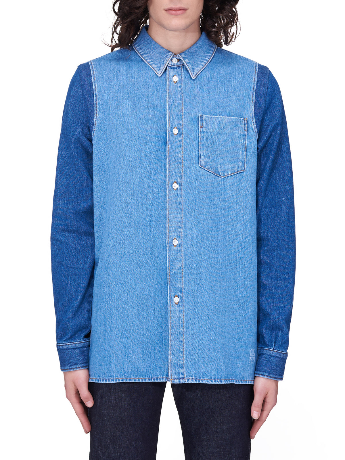Denim Overshirt (H526Y05W14-BLUE-WHITE)
