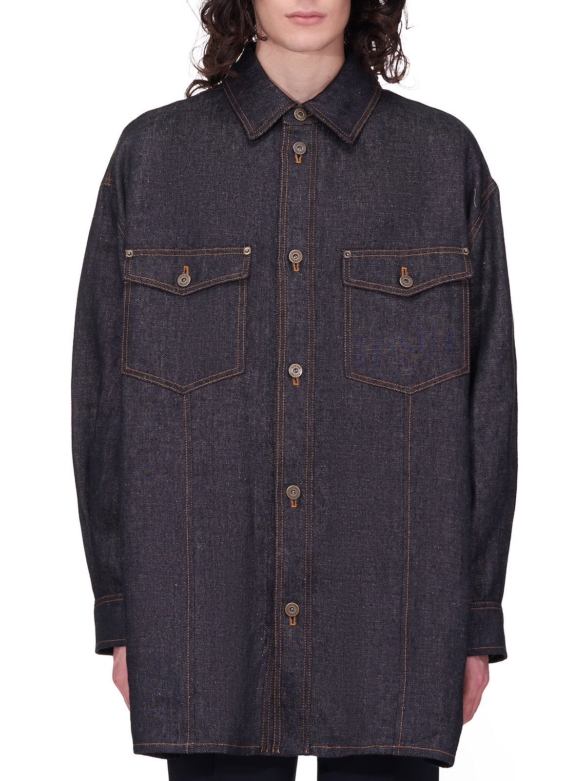 Tapestry Overshirt (H529Y05W12-BLACK)