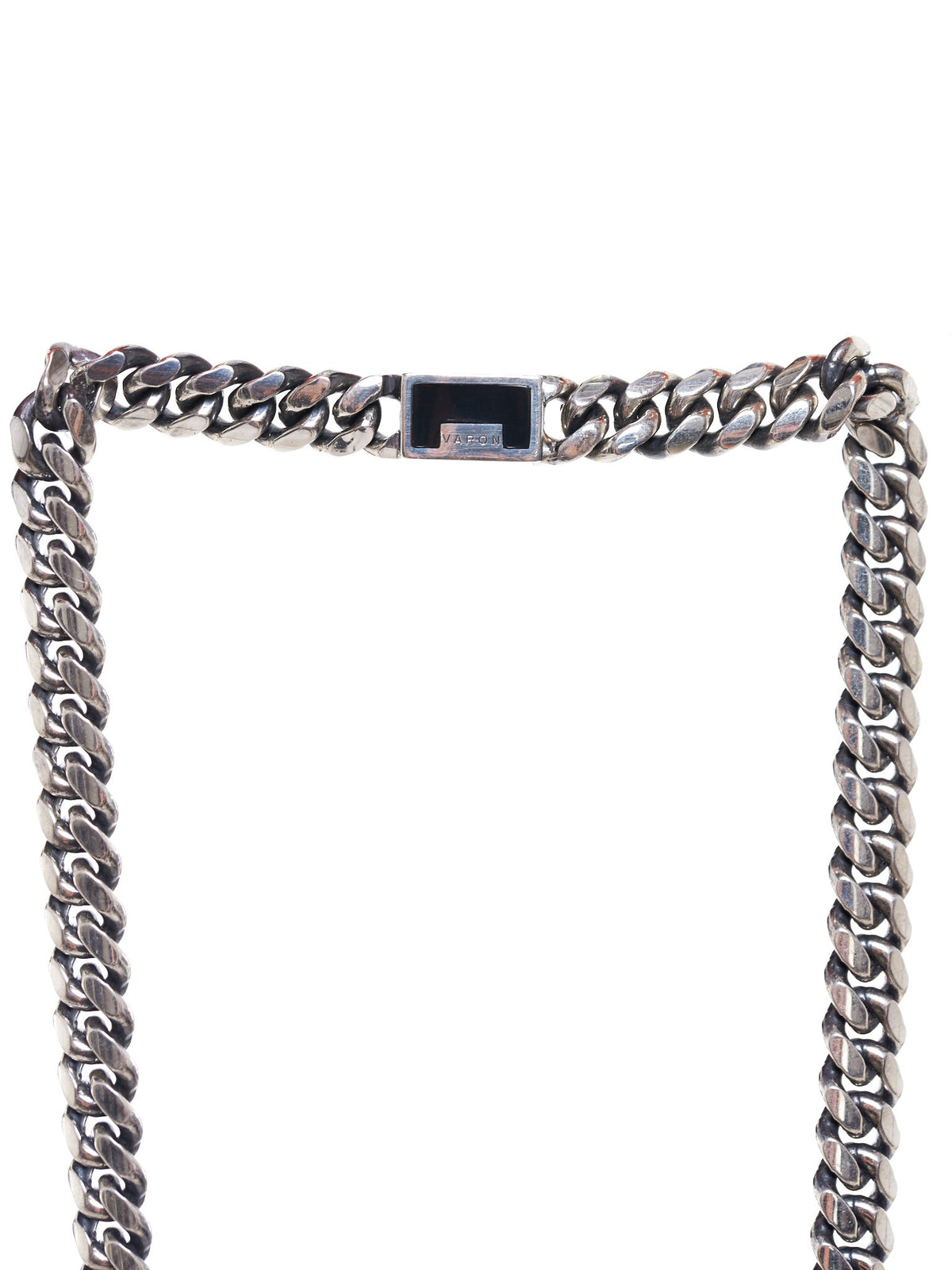 Chain-Link Necklace (HAIVE-MALO-SILVER-BLACK-BONE)
