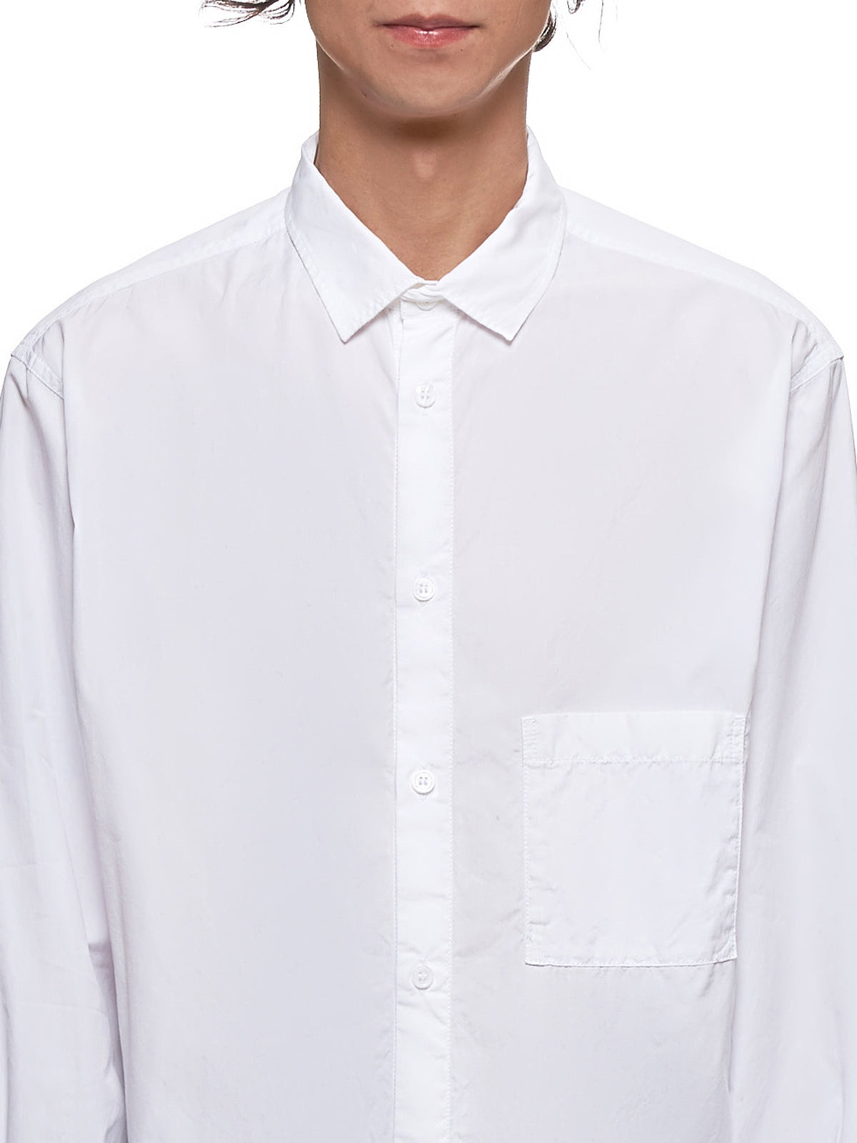 Elongated Shirt (HC-B62-007-WHITE)