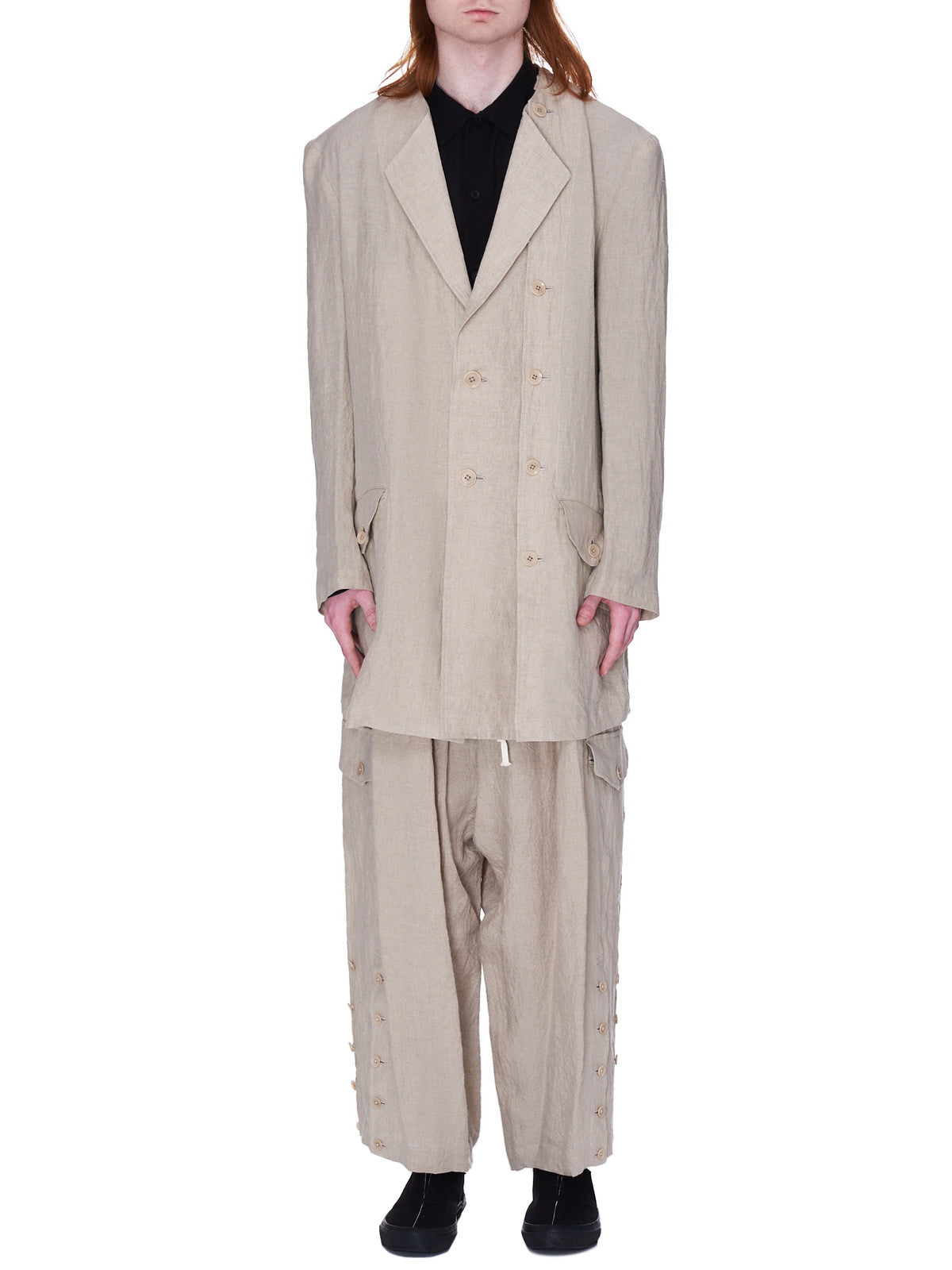 Linen Panel Jacket (HD-J21-303-BEIGE)