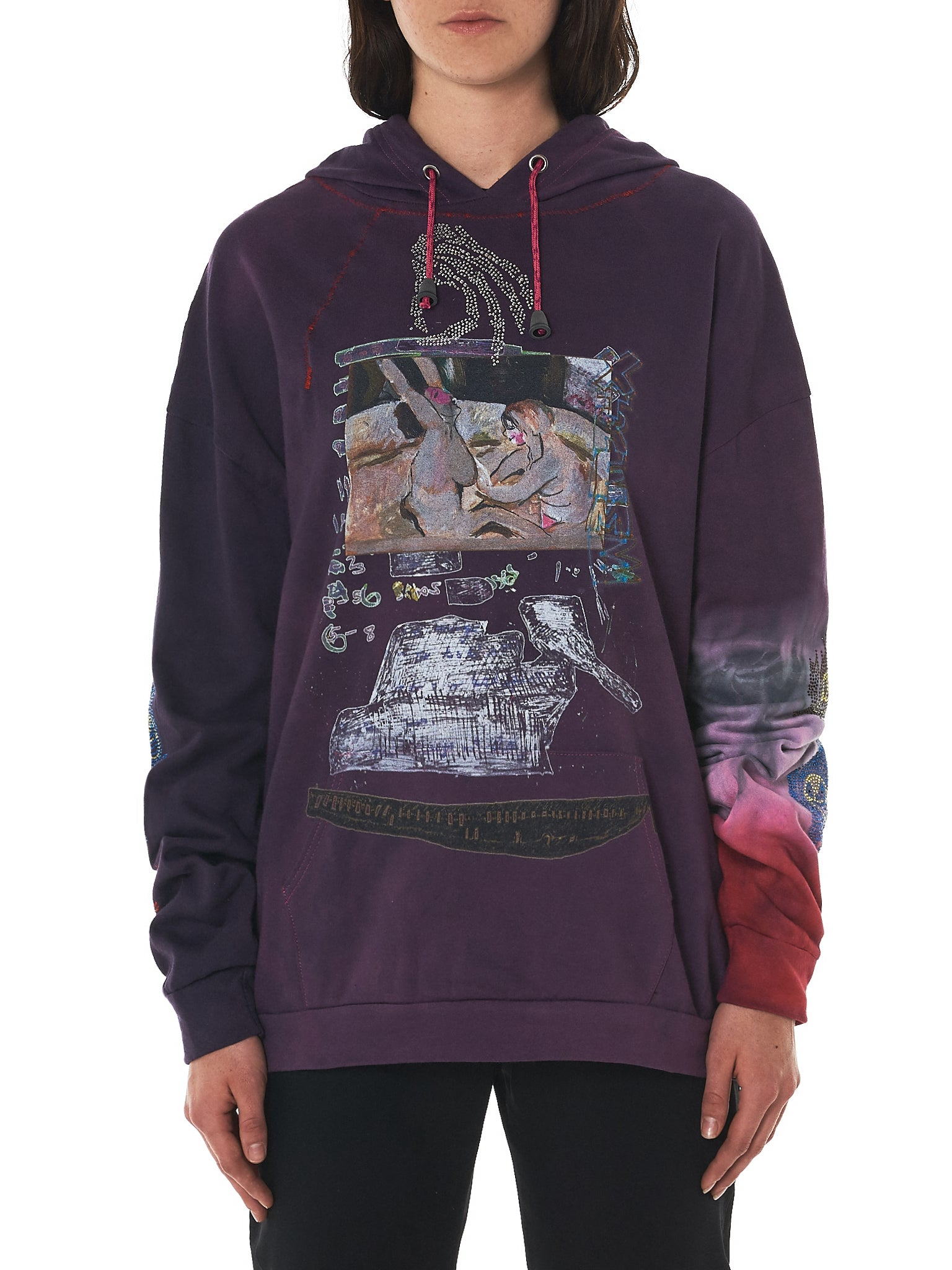Claire Barrow Hooded Pullover - Hlorenzo Front