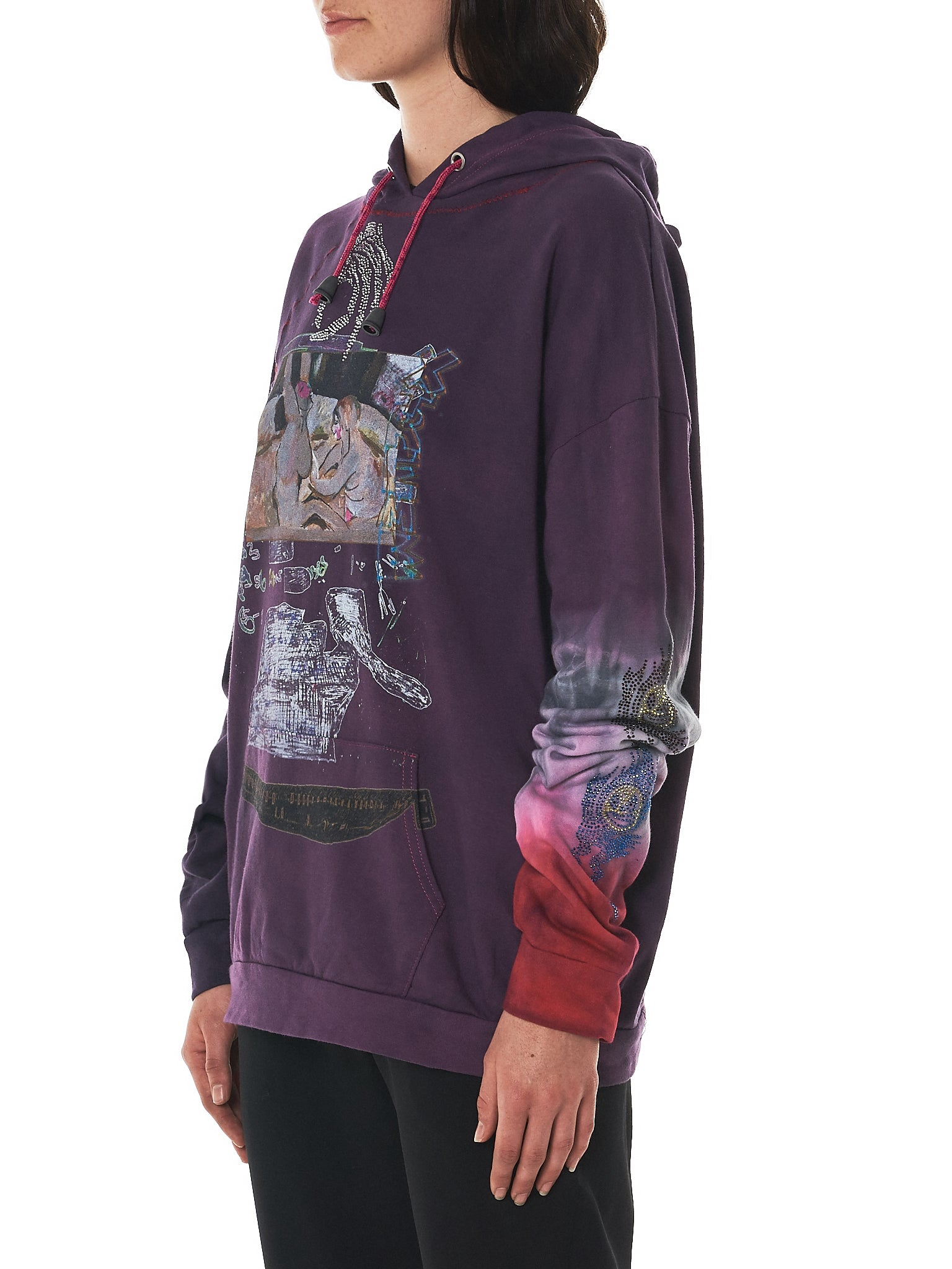 Claire Barrow Hooded Pullover - Hlorenzo Side