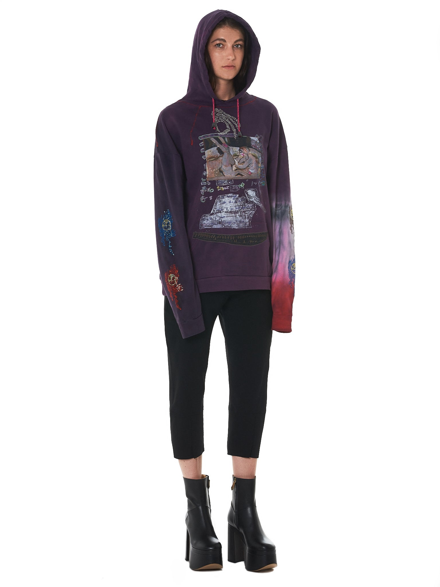 Claire Barrow Hooded Pullover - Hlorenzo Style