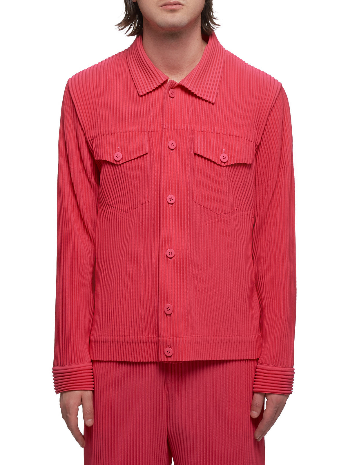 Pleated Jacket (HP06JC208-22-PINK)