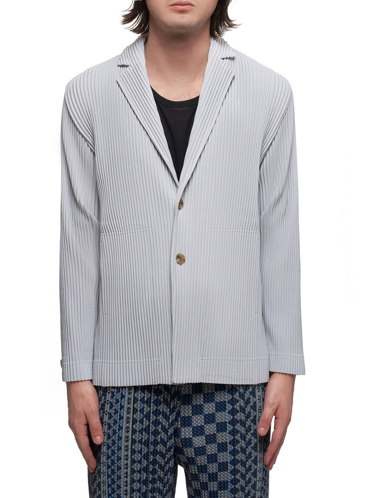 Pleated Blazer (HP06JD201-11-GRAY)