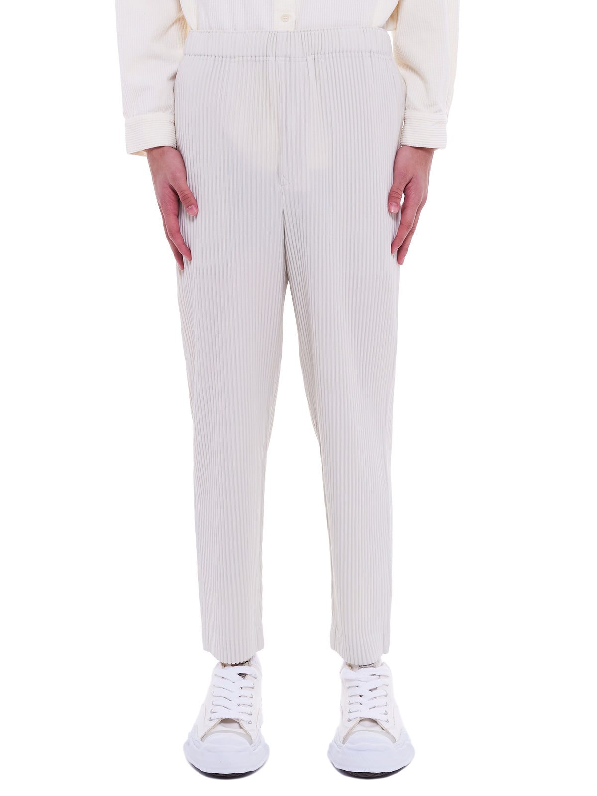Pleated Trousers (HP08JF134-03-IVORY)