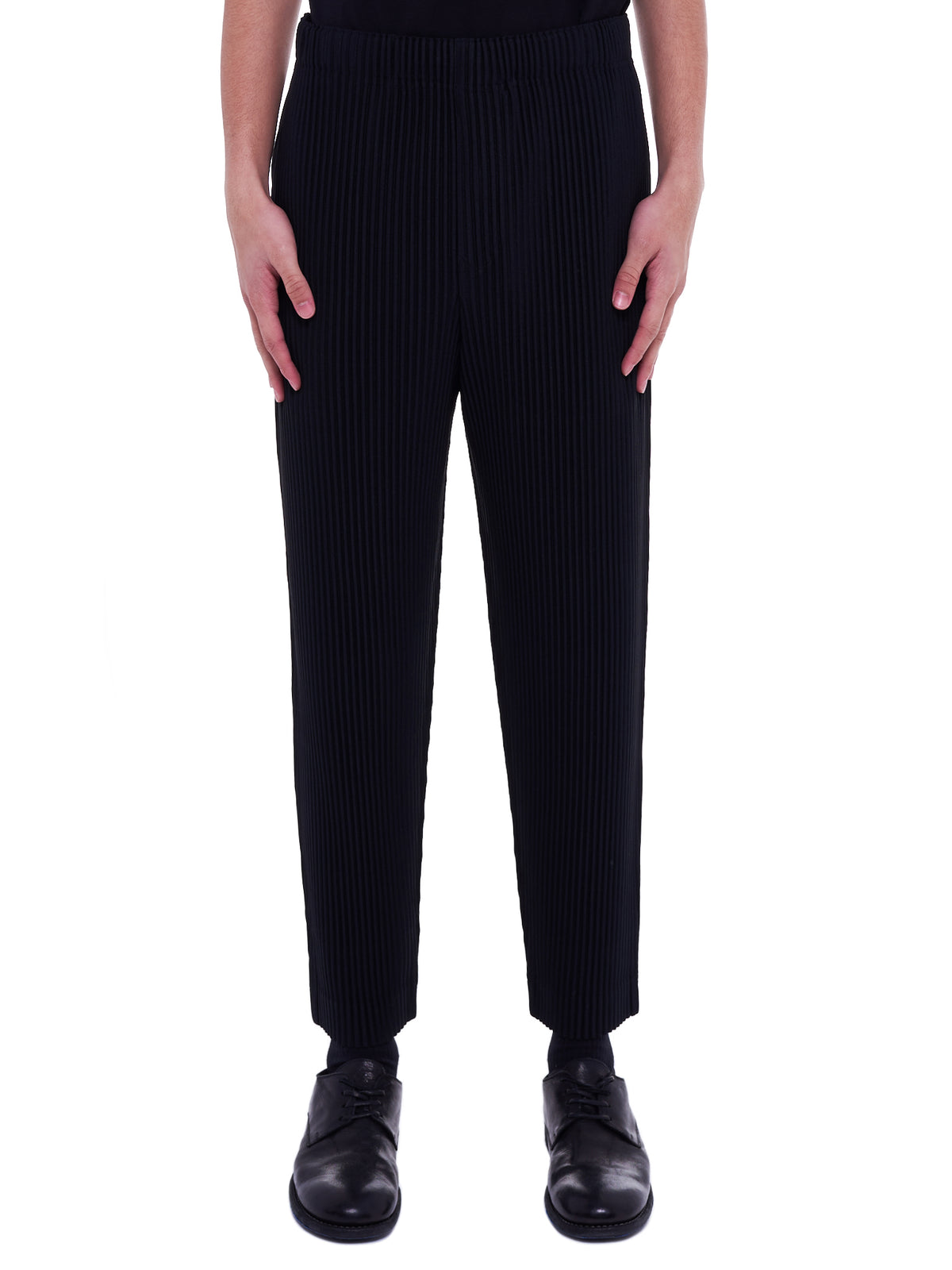 Pleated Trousers (HP08JF134-15-BLACK)
