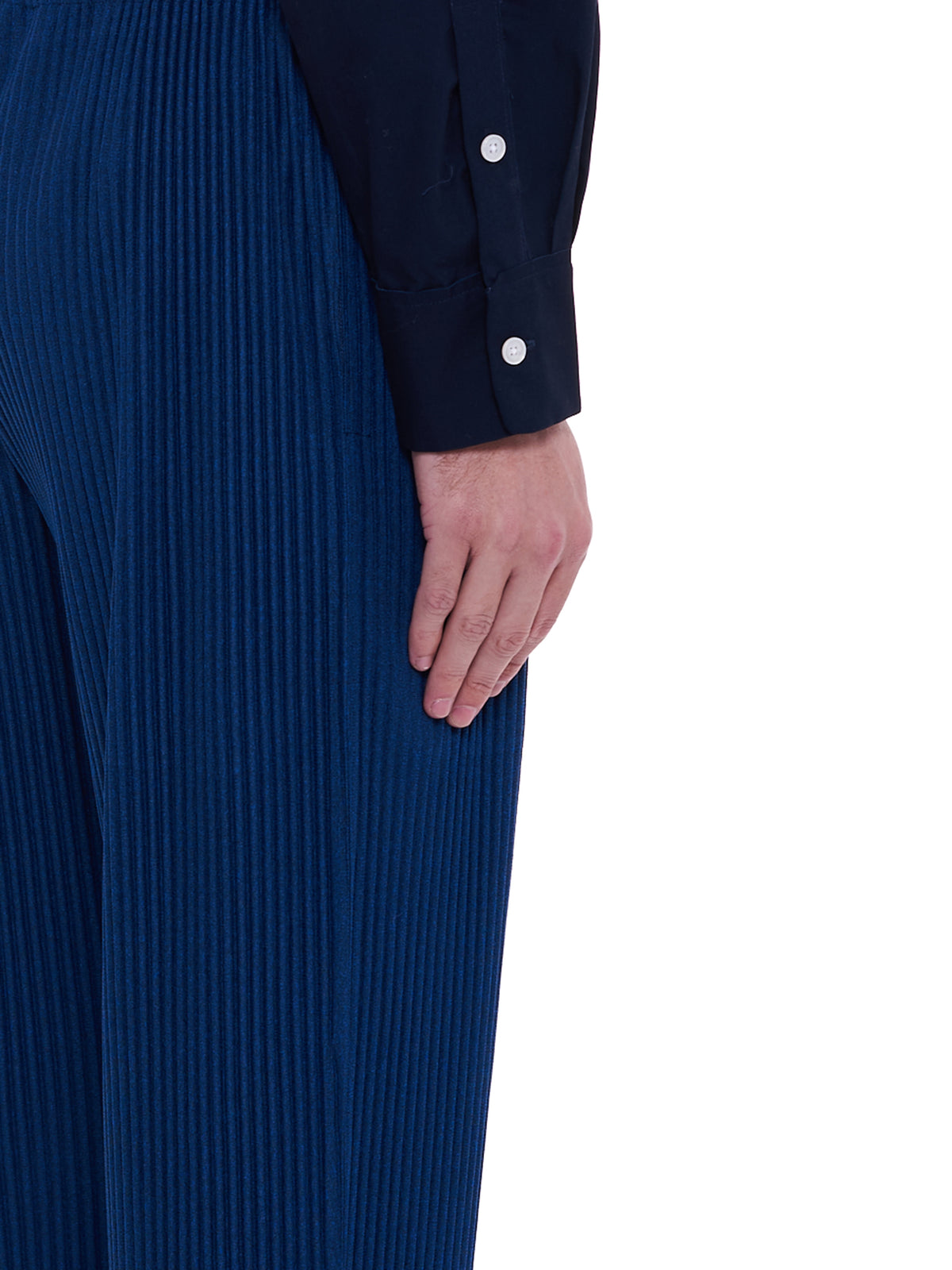 Pleated Trousers (HP08JF144-NAVY)