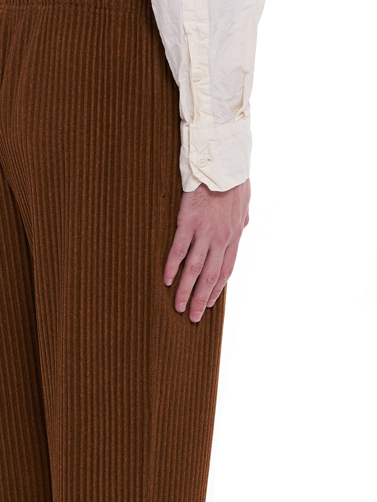 Pleated Trousers (HP08JF144-YELLOW)