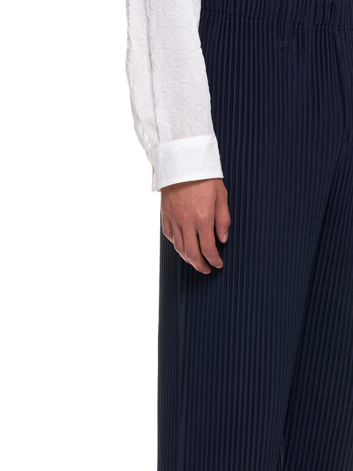 Pleated Basics Trousers (HP08JF150-75-NAVY)