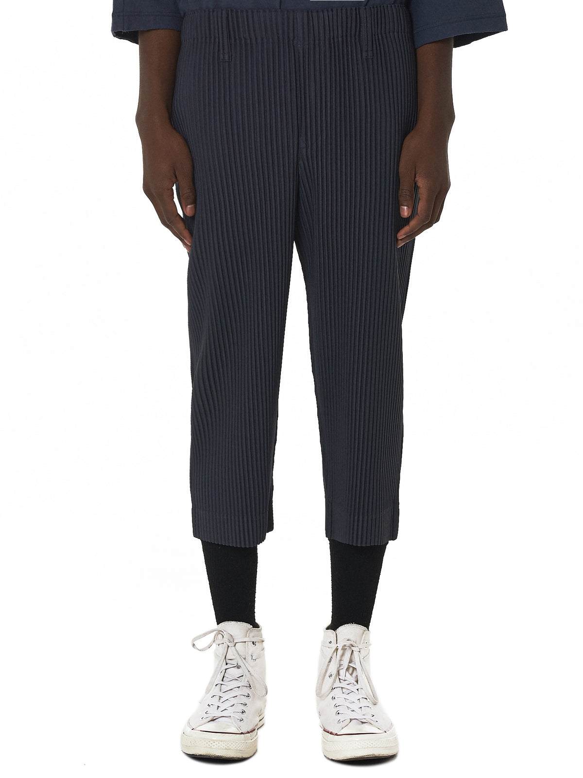 Issey Miyake Homme Plissé Cropped Pant - Hlorenzo Front