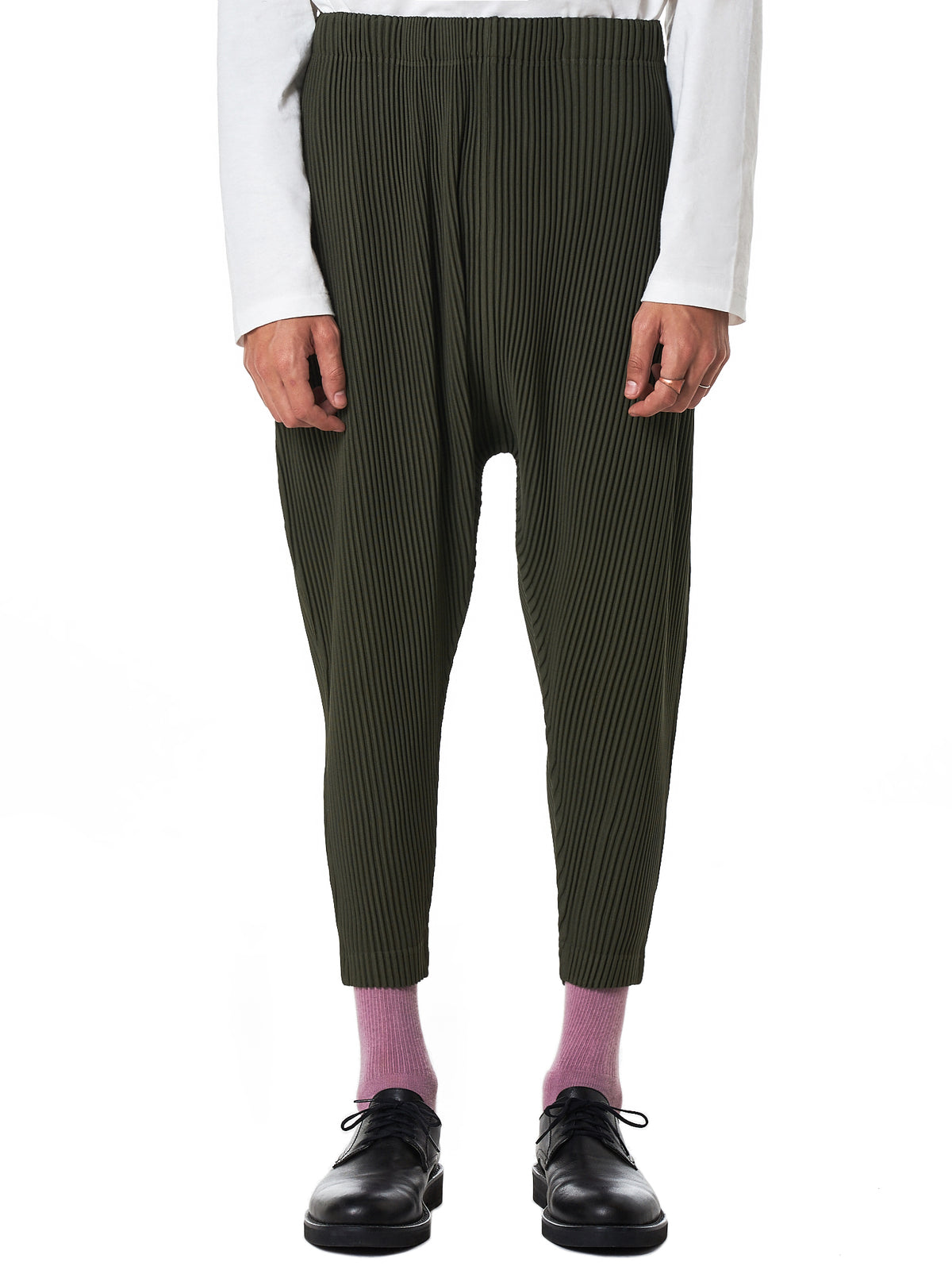 Issey Miyake Homme Plissé Cropped Jogger - Hlorenzo Front
