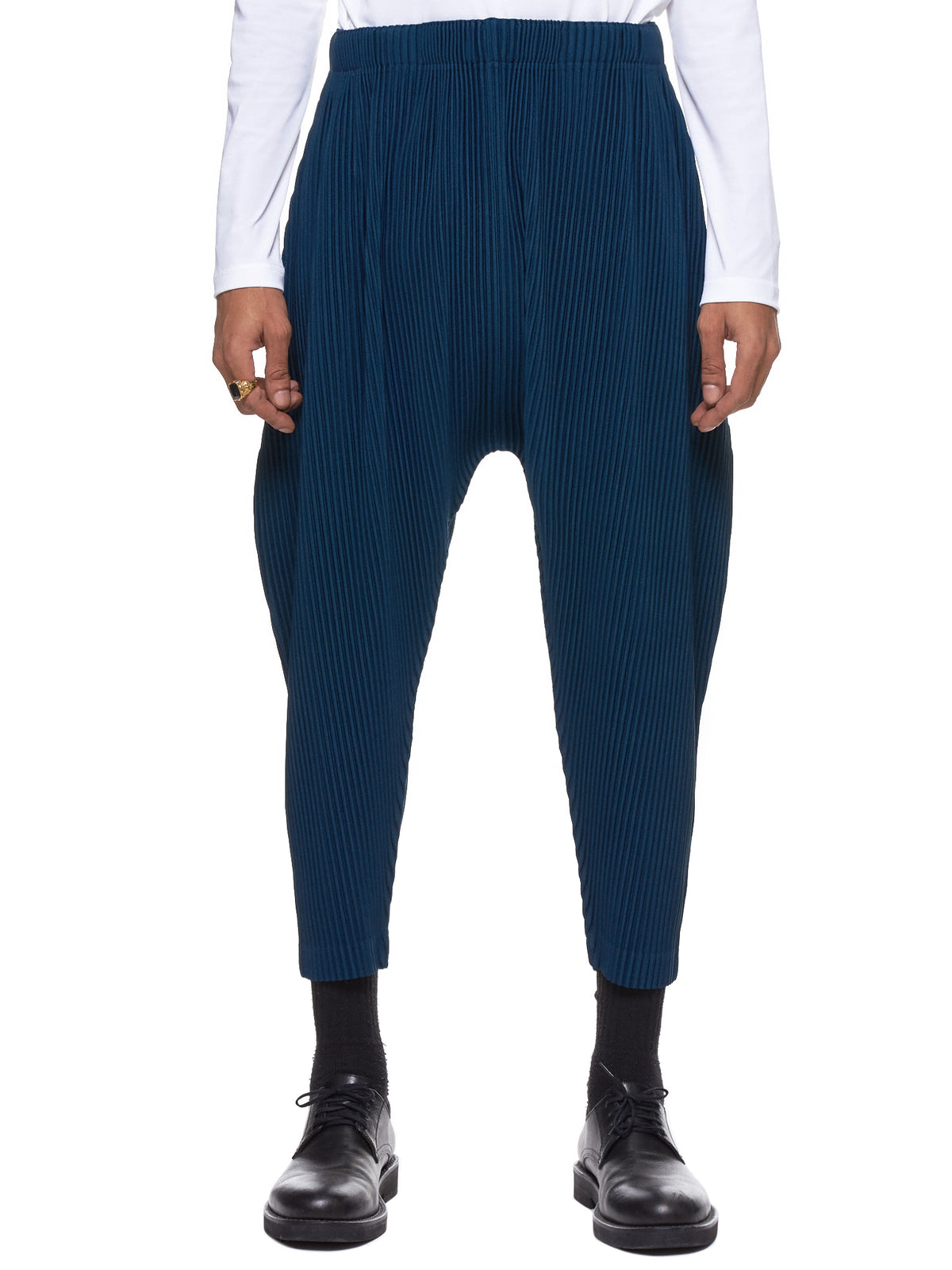 Issey Miyake Homme Plissé Cropped Pants - Hlorenzo Front