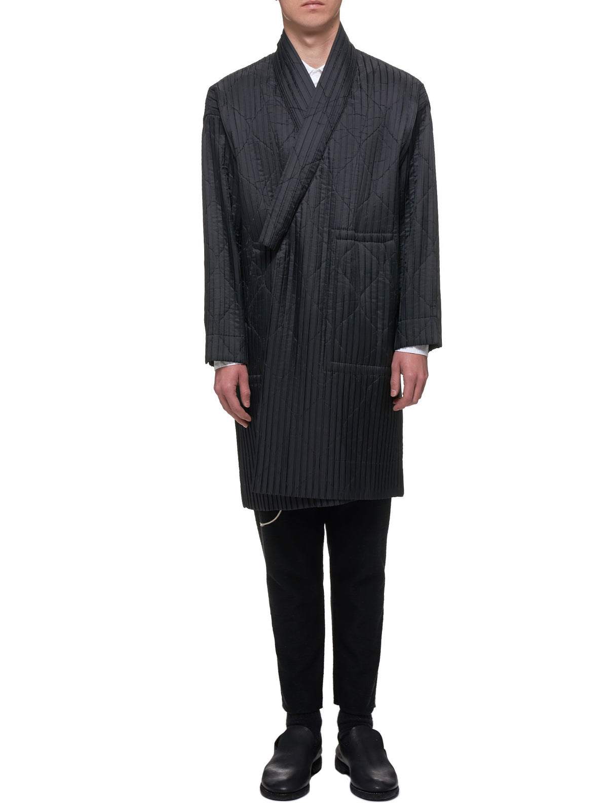 Padded Pleat Coat (HP98FA017-15-BLACK)