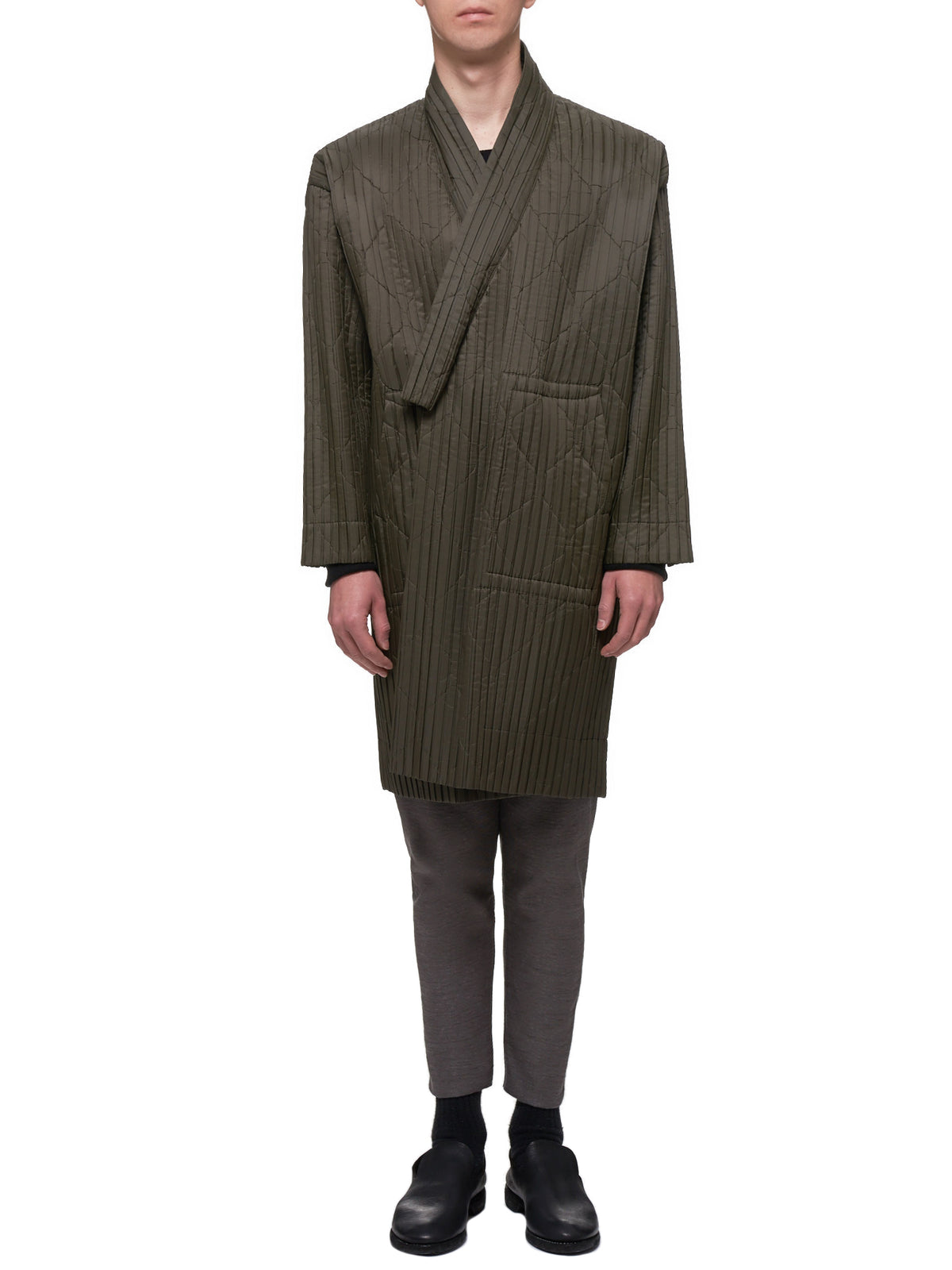 Padded Pleat Coat (HP98FA017-65-KHAKI)