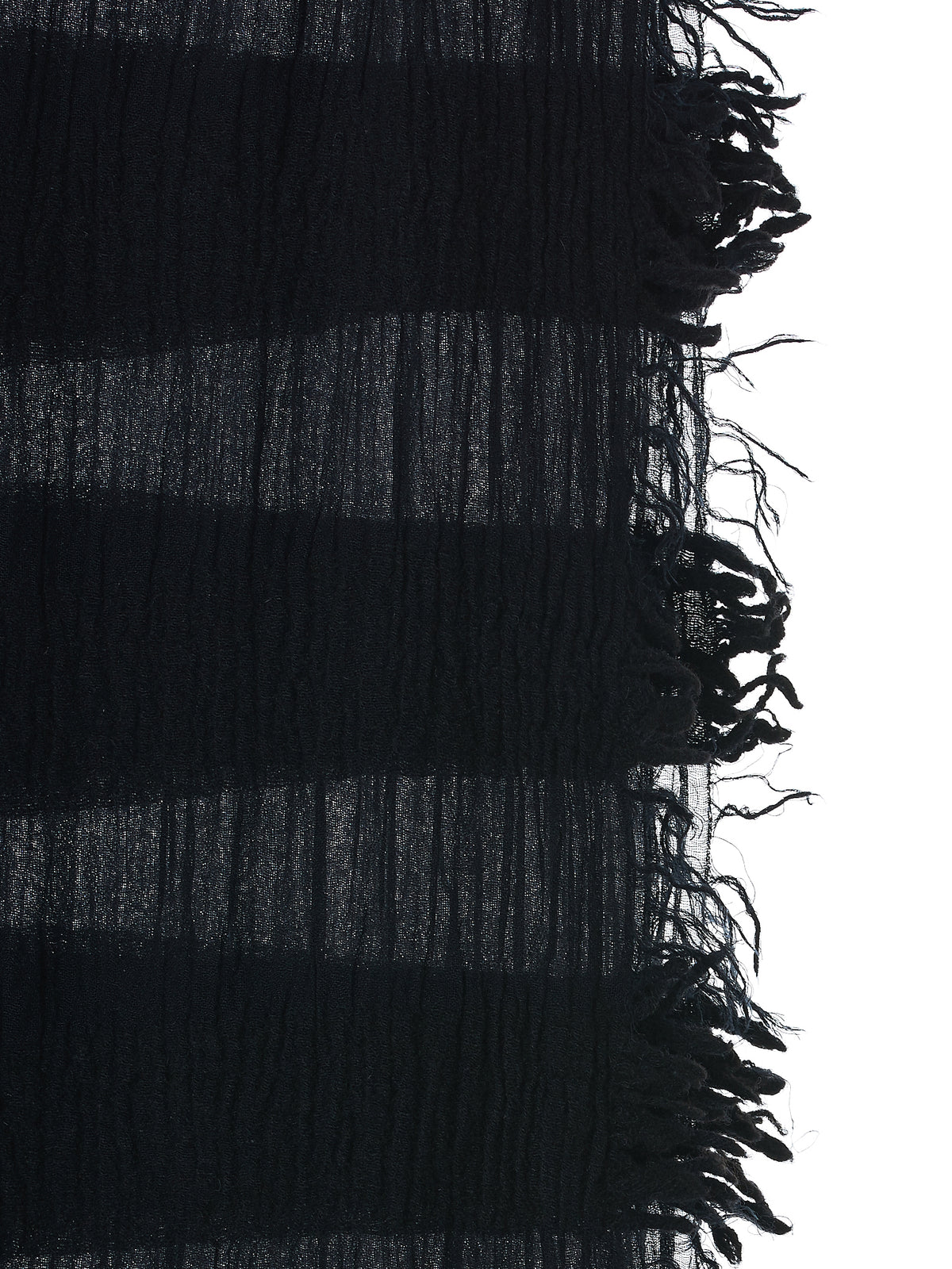 Crushed Stripe Scarf (HX013-LEOB-BLK)
