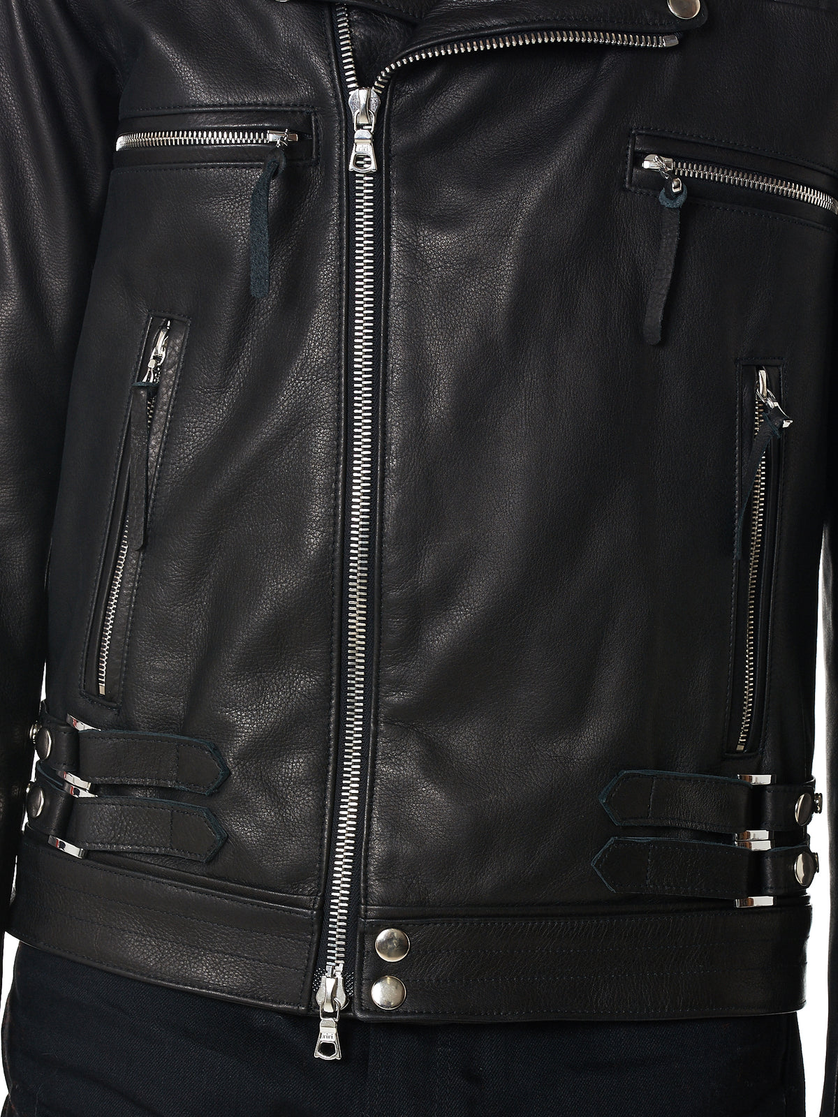 John Elliot Biker Leather Jacket - Hlorenzo Detail 2