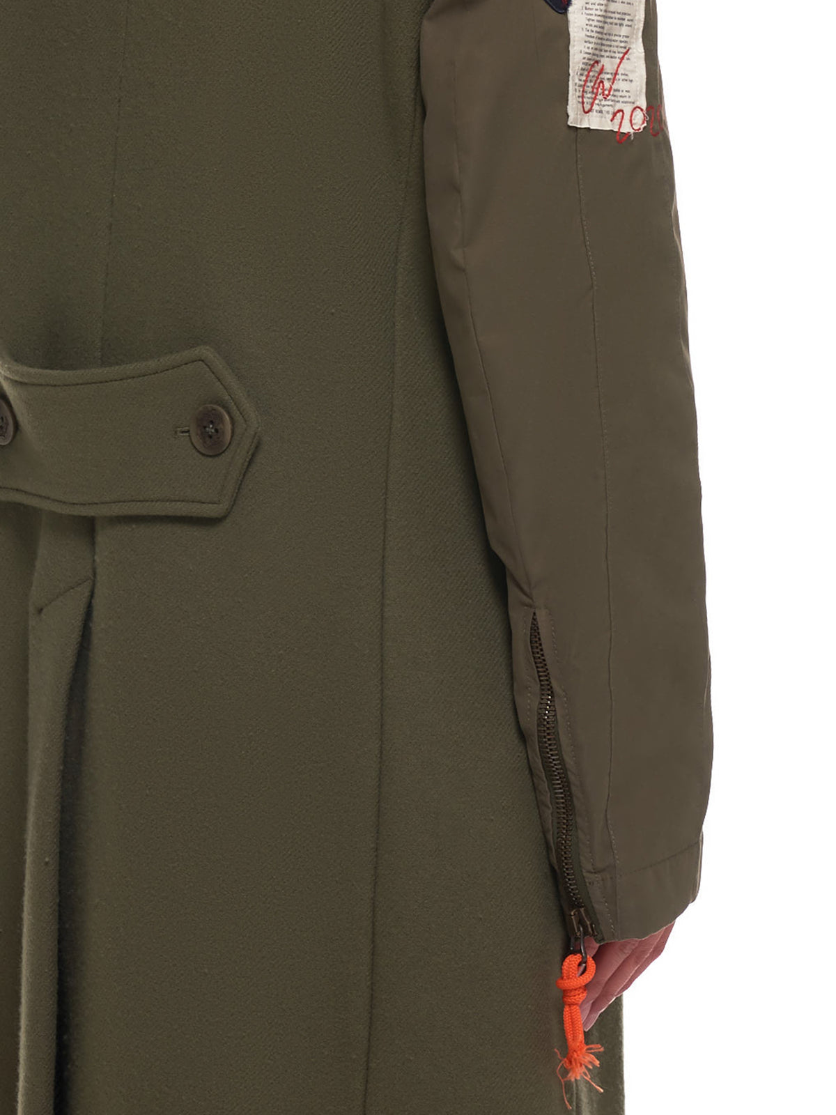 Double Breasted Hybrid Coat (I20P2806-DARK-KHAKI)
