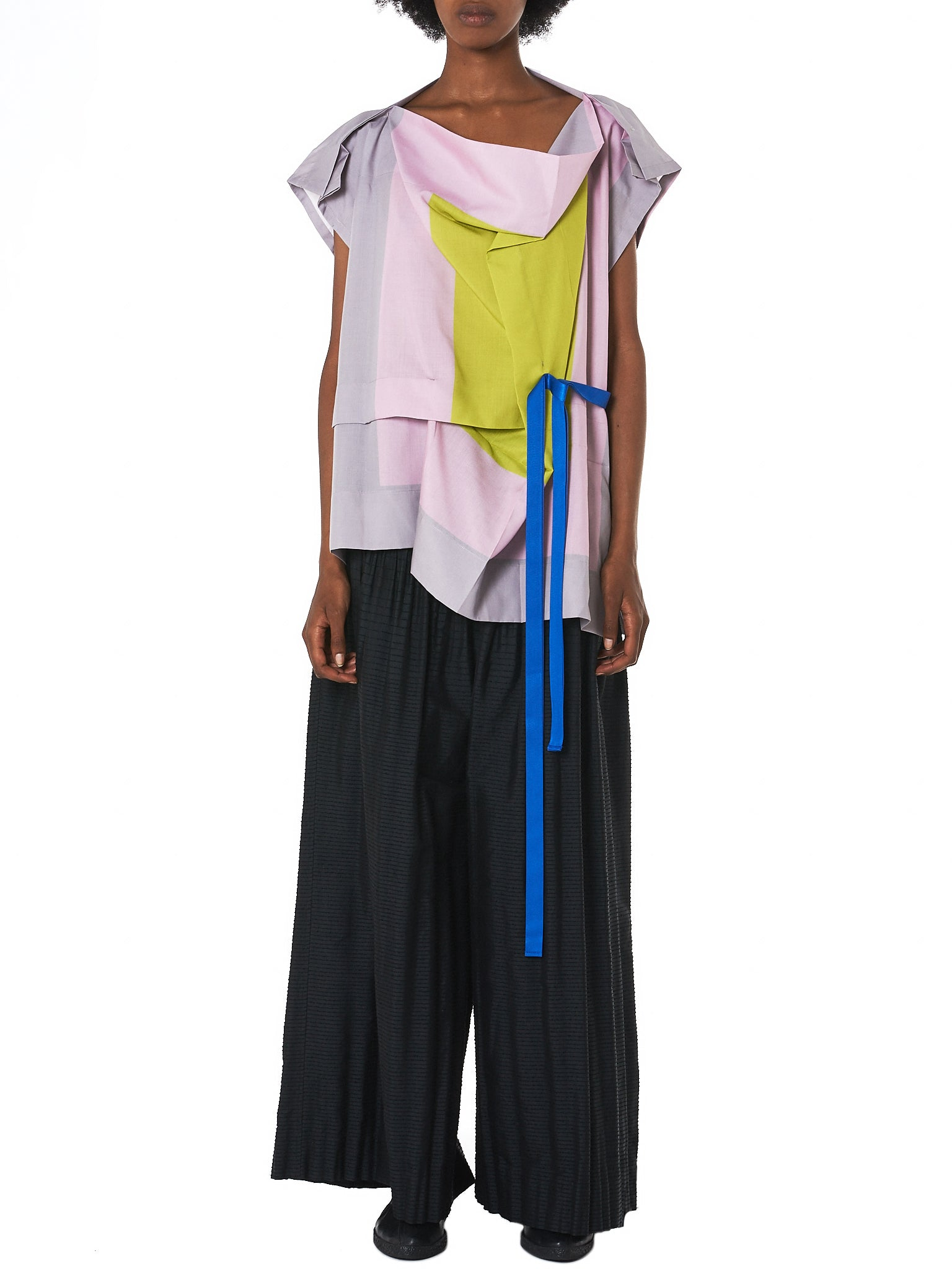 Draped Colorblock Top (IL86FJ351-26)