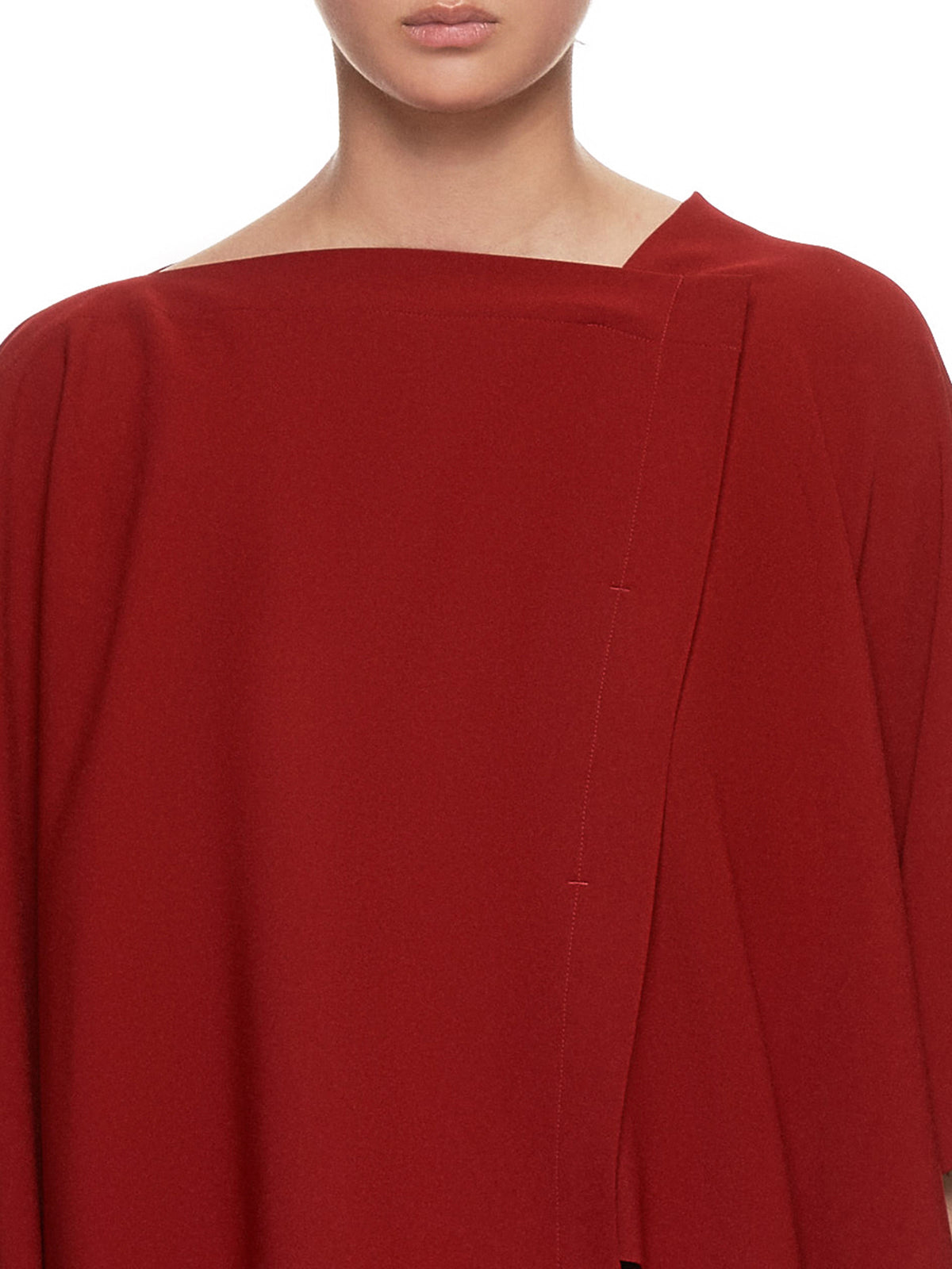 Satin Back Drape Top (IL96FJ335-RED)