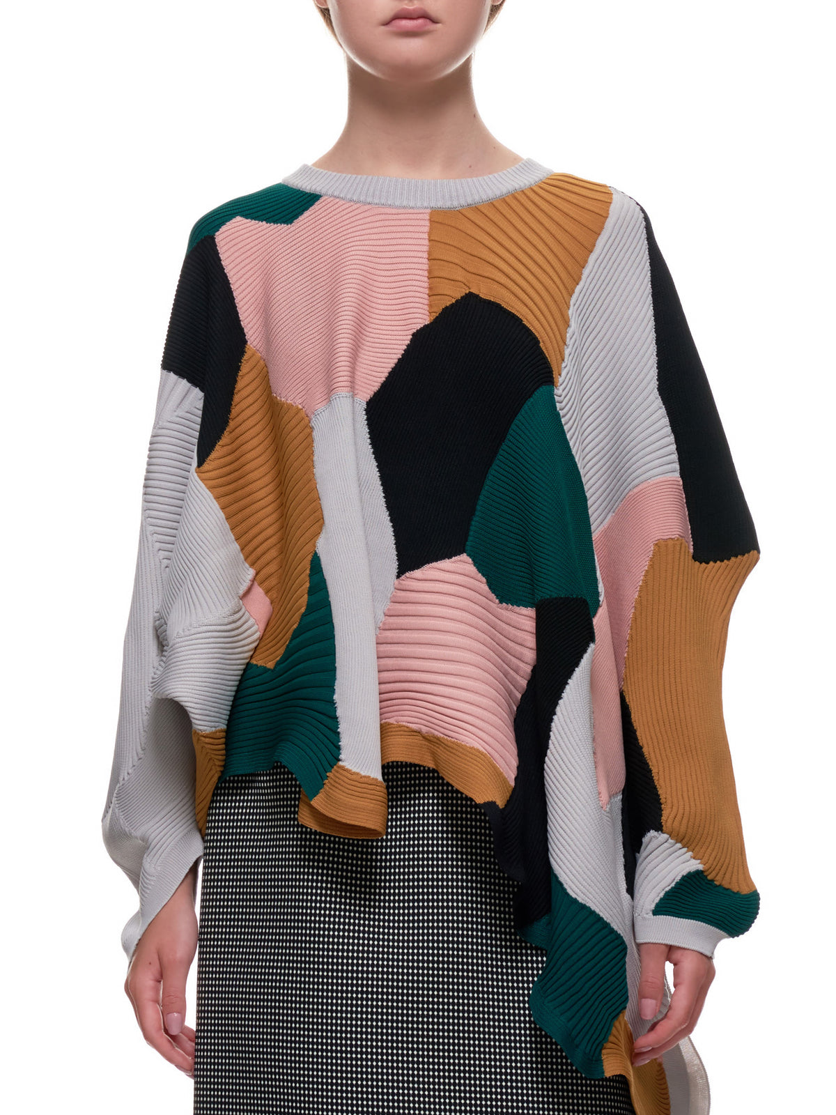 Abstract Black Sweater (IM08KN269-26-PINK-MULTI)