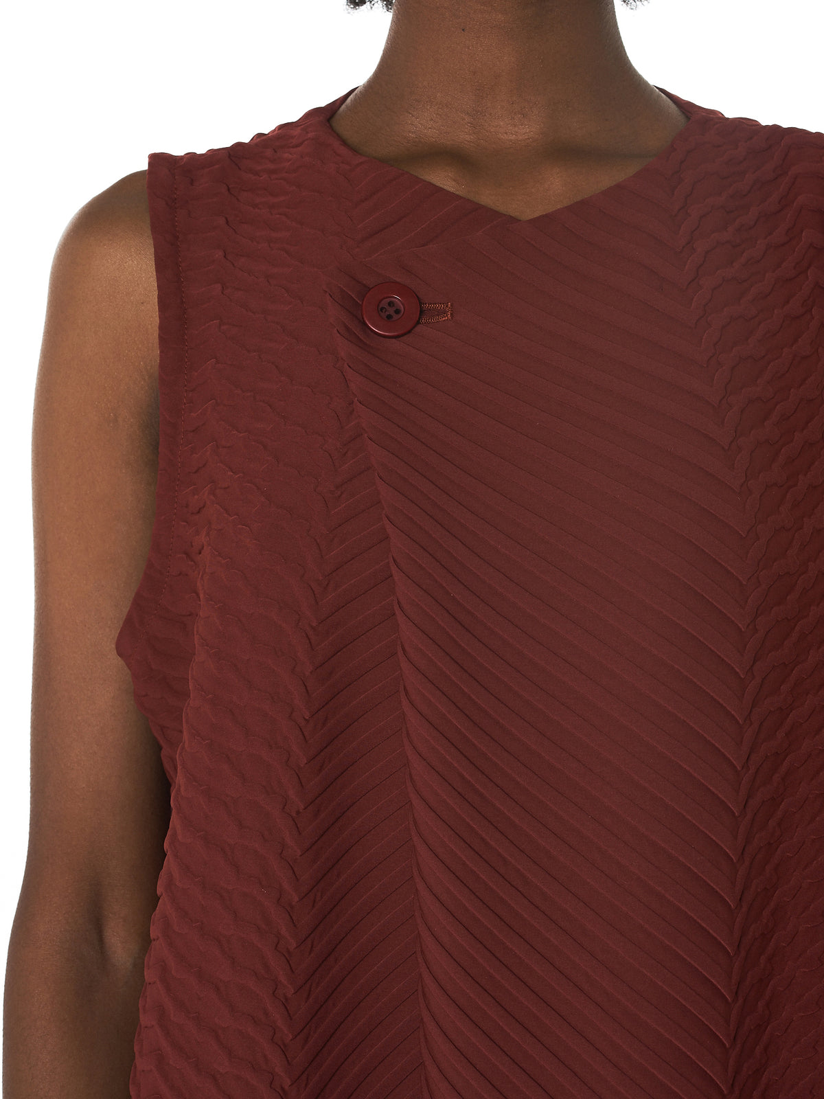 Issey Miyake Pleated Dress - Hlorenzo Detail 2
