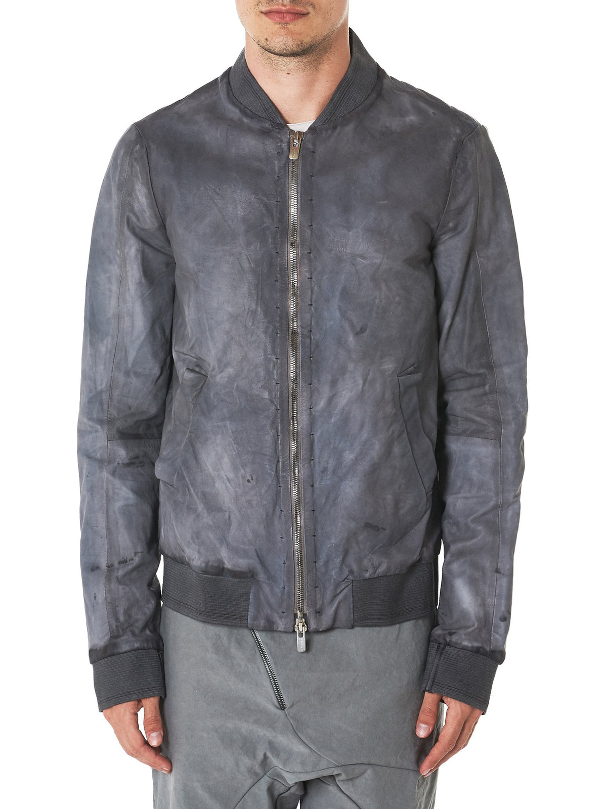 A Diciannoveventitre Leather Jacket - Hlorenzo Front