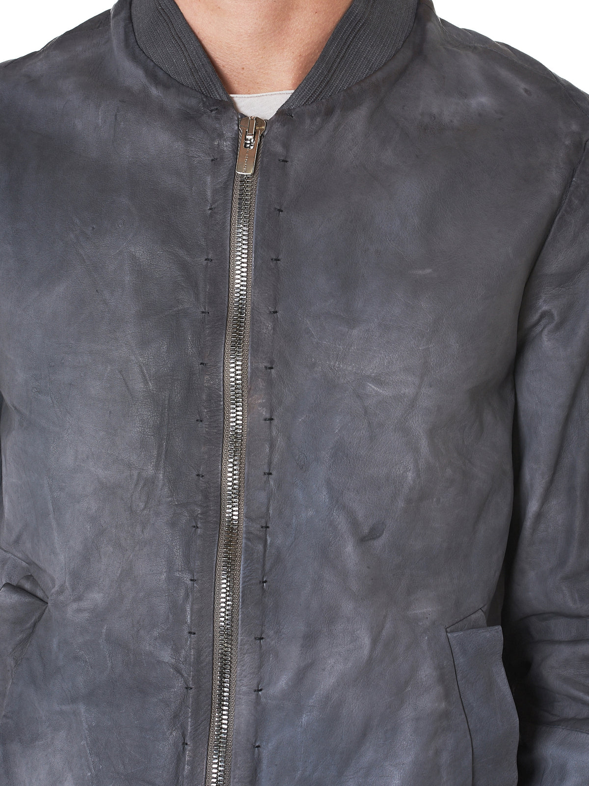 A Diciannoveventitre Leather Jacket - Hlorenzo Detail 2