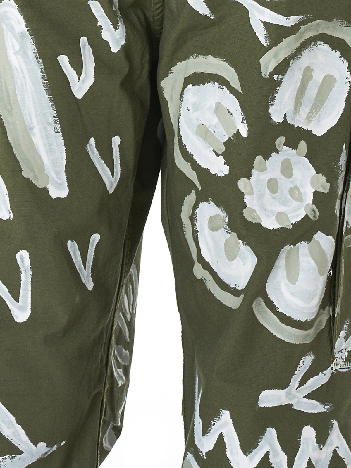 Painted Ripstop Cargo Trousers (J00PT001-KHAKI)