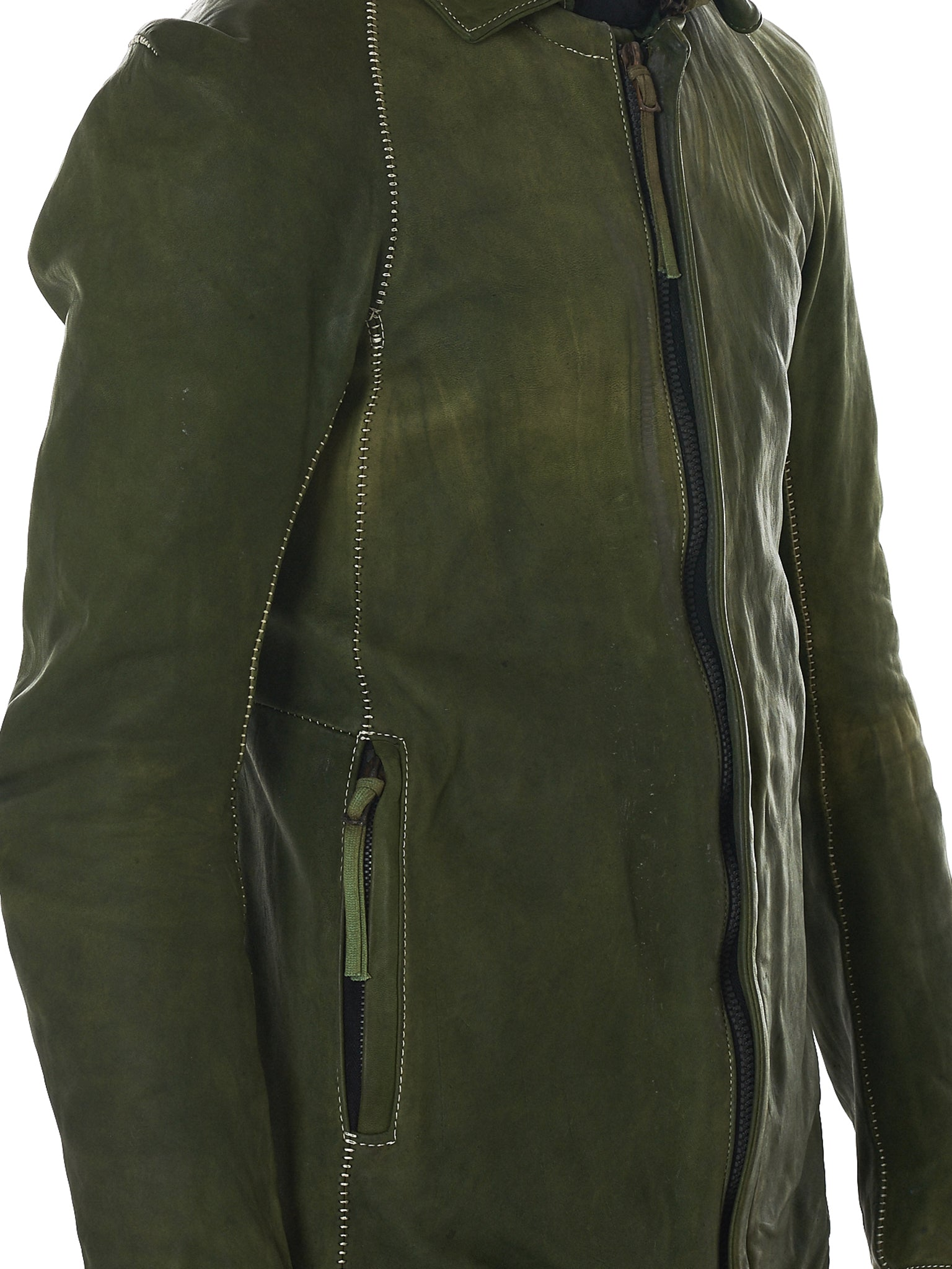 Boris Bidjan Saberi Leather Jacket - Hlorenzo Detail 3