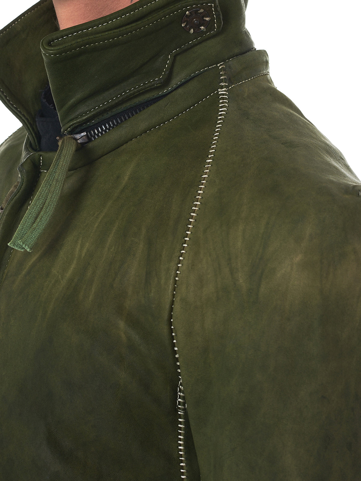 Boris Bidjan Saberi Leather Jacket - Hlorenzo Detail 2