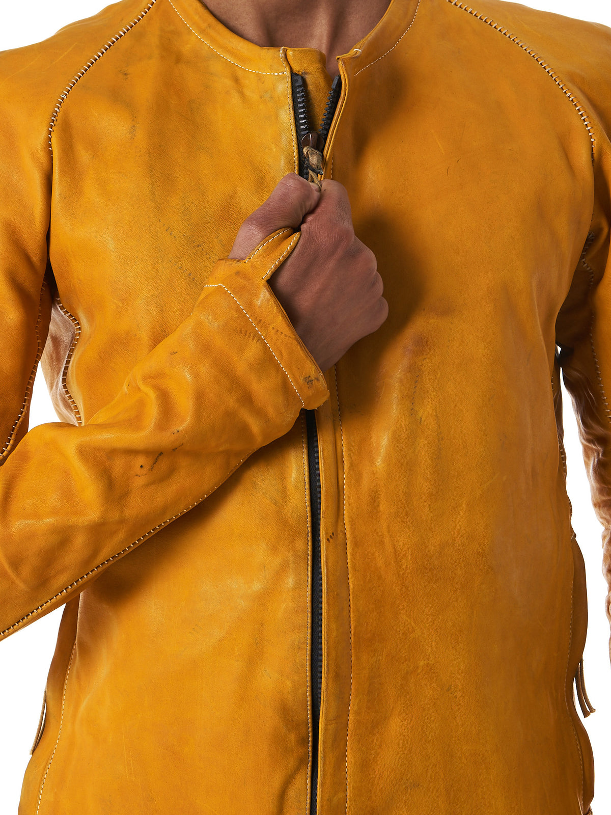 Tanned Leather Bomber (J2S-F235-C5) - H. Lorenzo