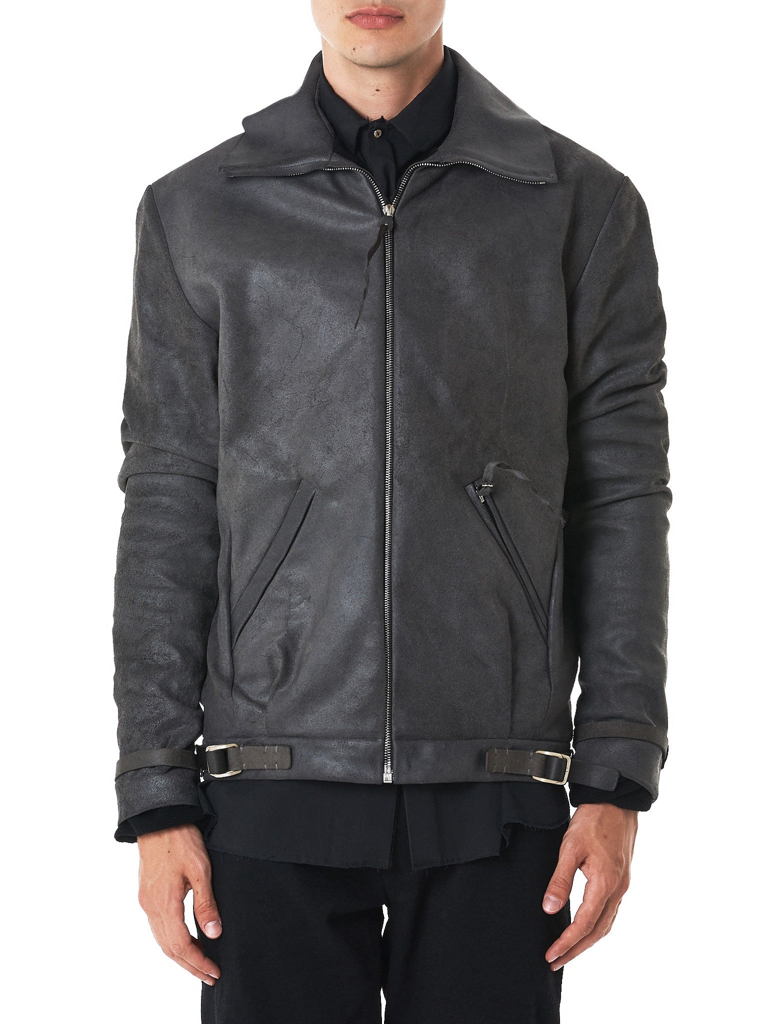 MA+/Hlorenzo- waxed leather jacket