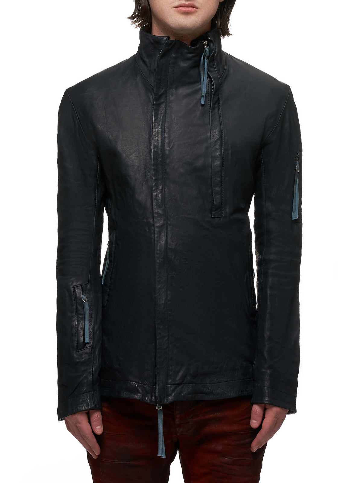 Boris Bidjan Saberi Leather J5 Jacket - Hlorenzo Front