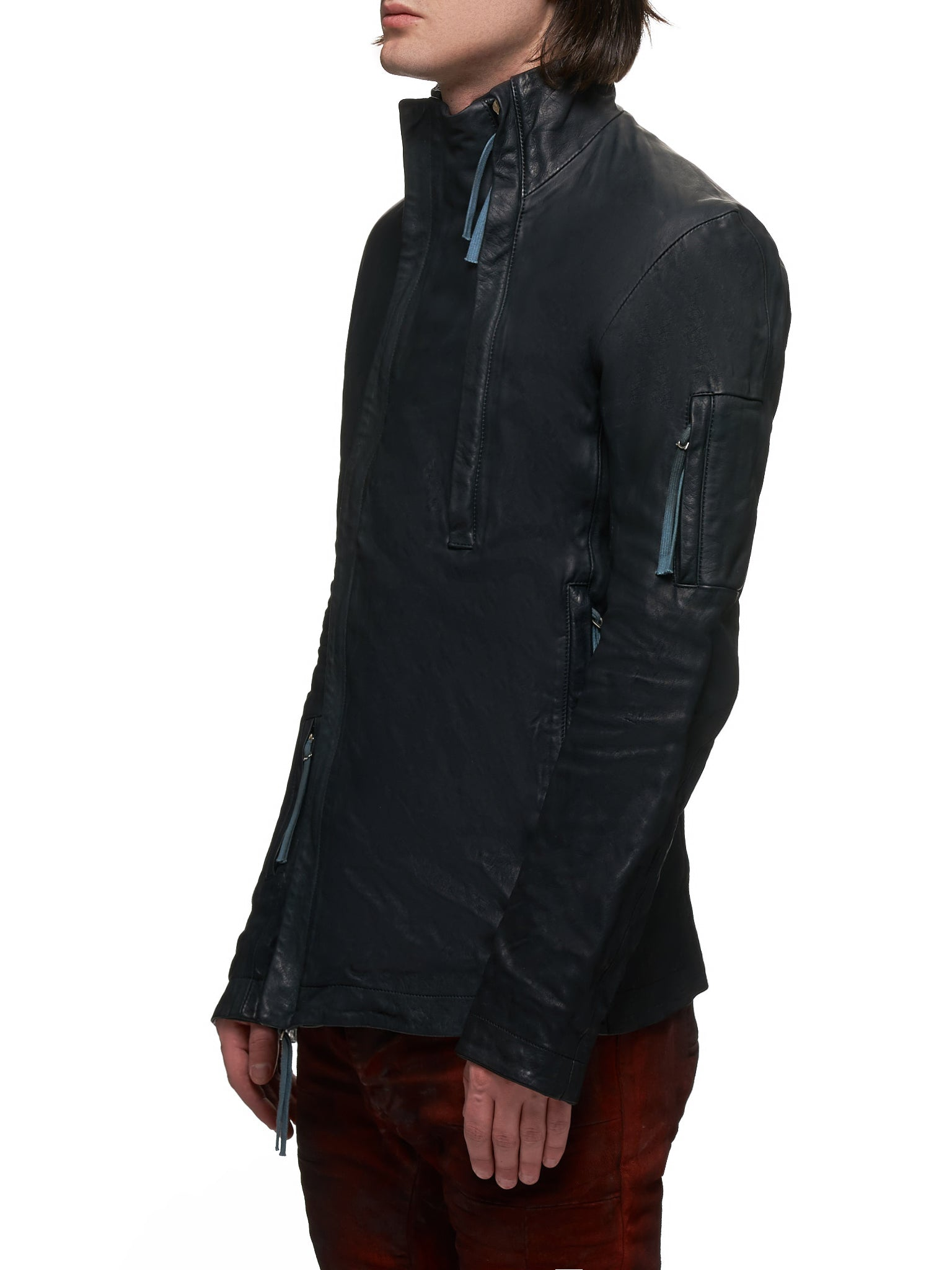 Boris Bidjan Saberi Leather J5 Jacket - Hlorenzo Side