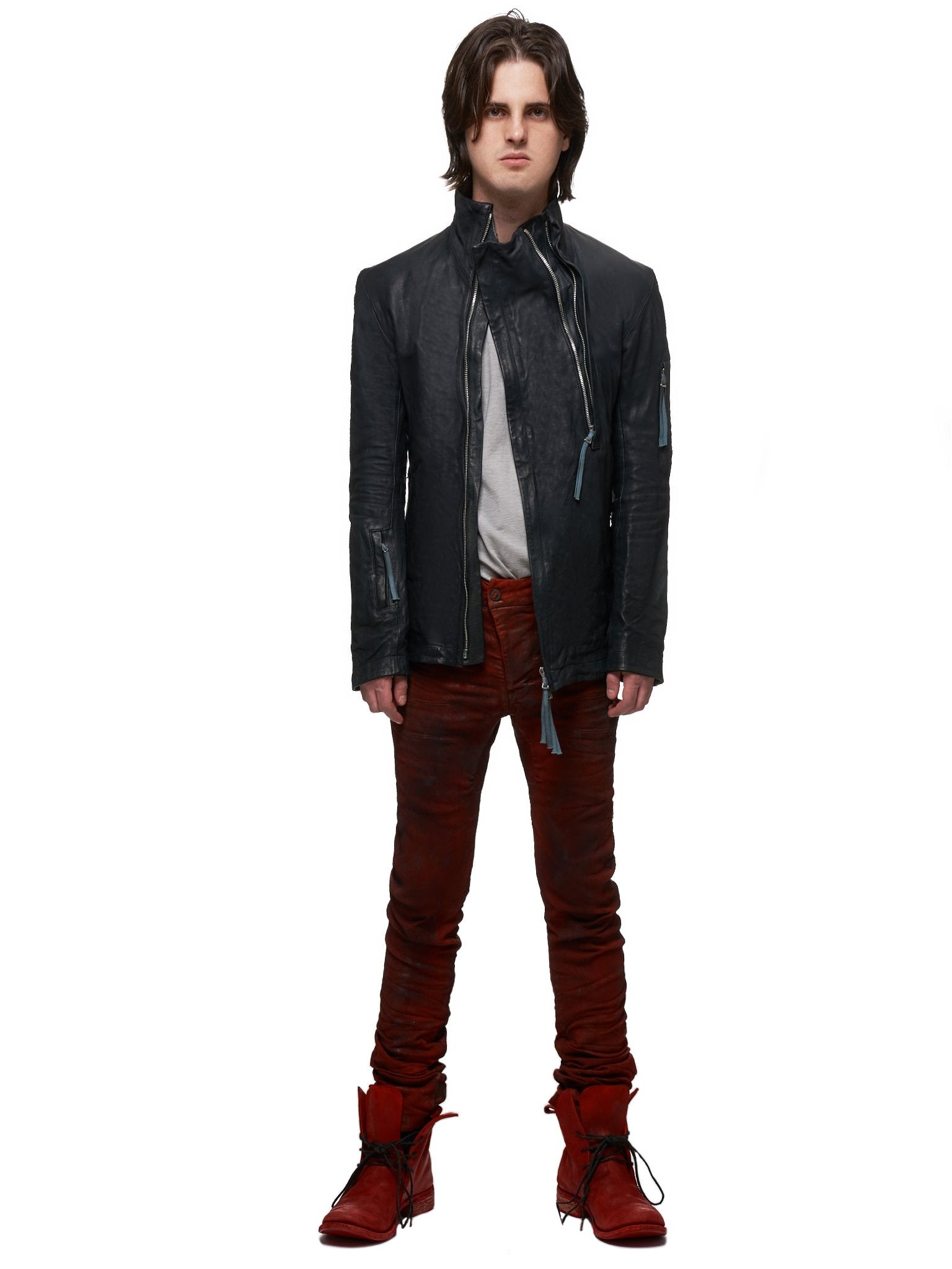 Boris Bidjan Saberi Leather J5 Jacket - Hlorenzo Style