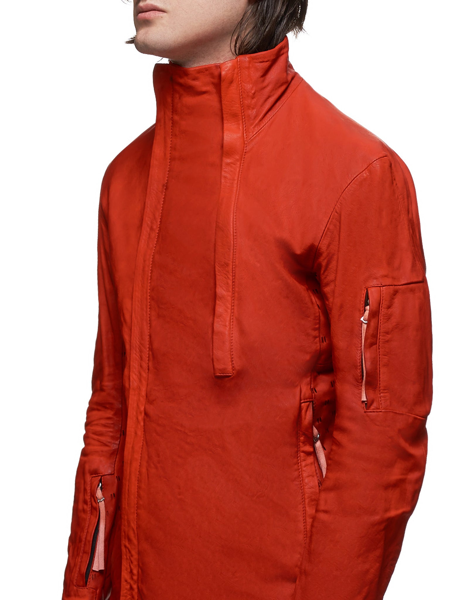 Boris Bidjan Saberi J5 Leather Jacket  - Hlorenzo Detail 1