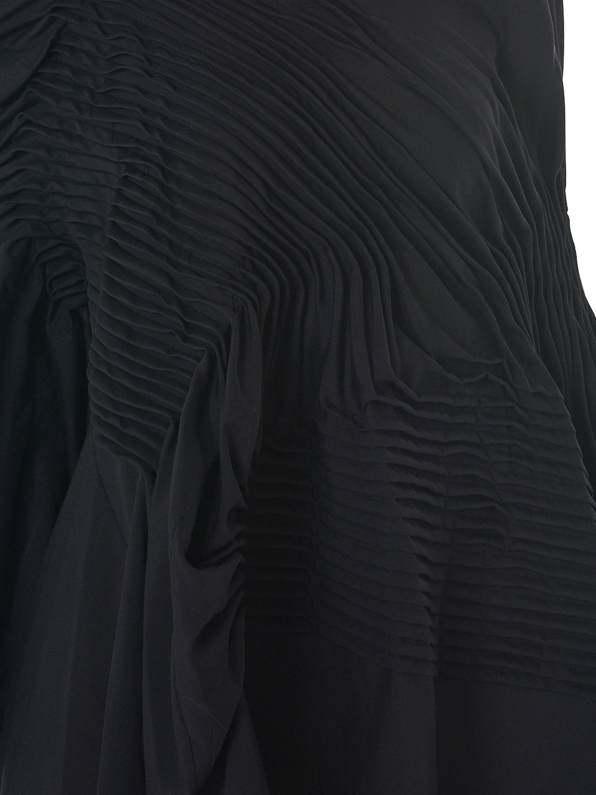 Pleated Asymmetric Dress (JA-O073-051-BLACK)