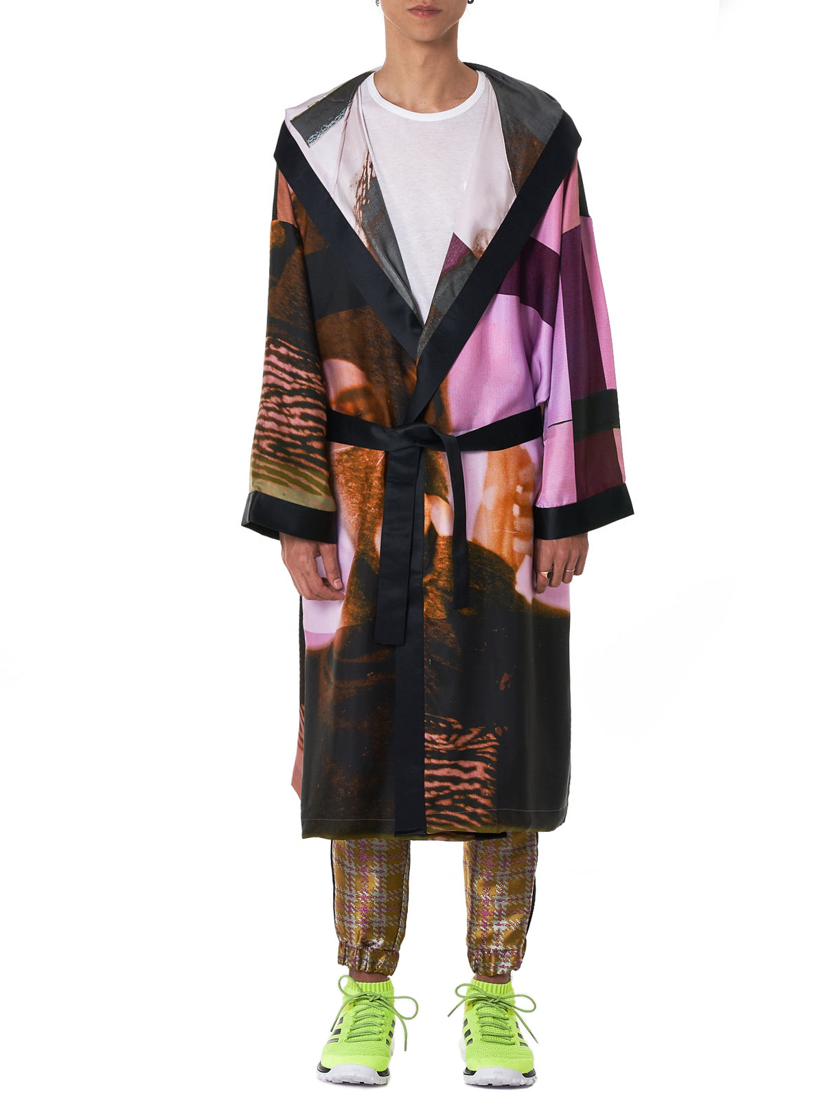 Sublimated Hooded Silk Robe (JA06-2-PINK-PURPLE)