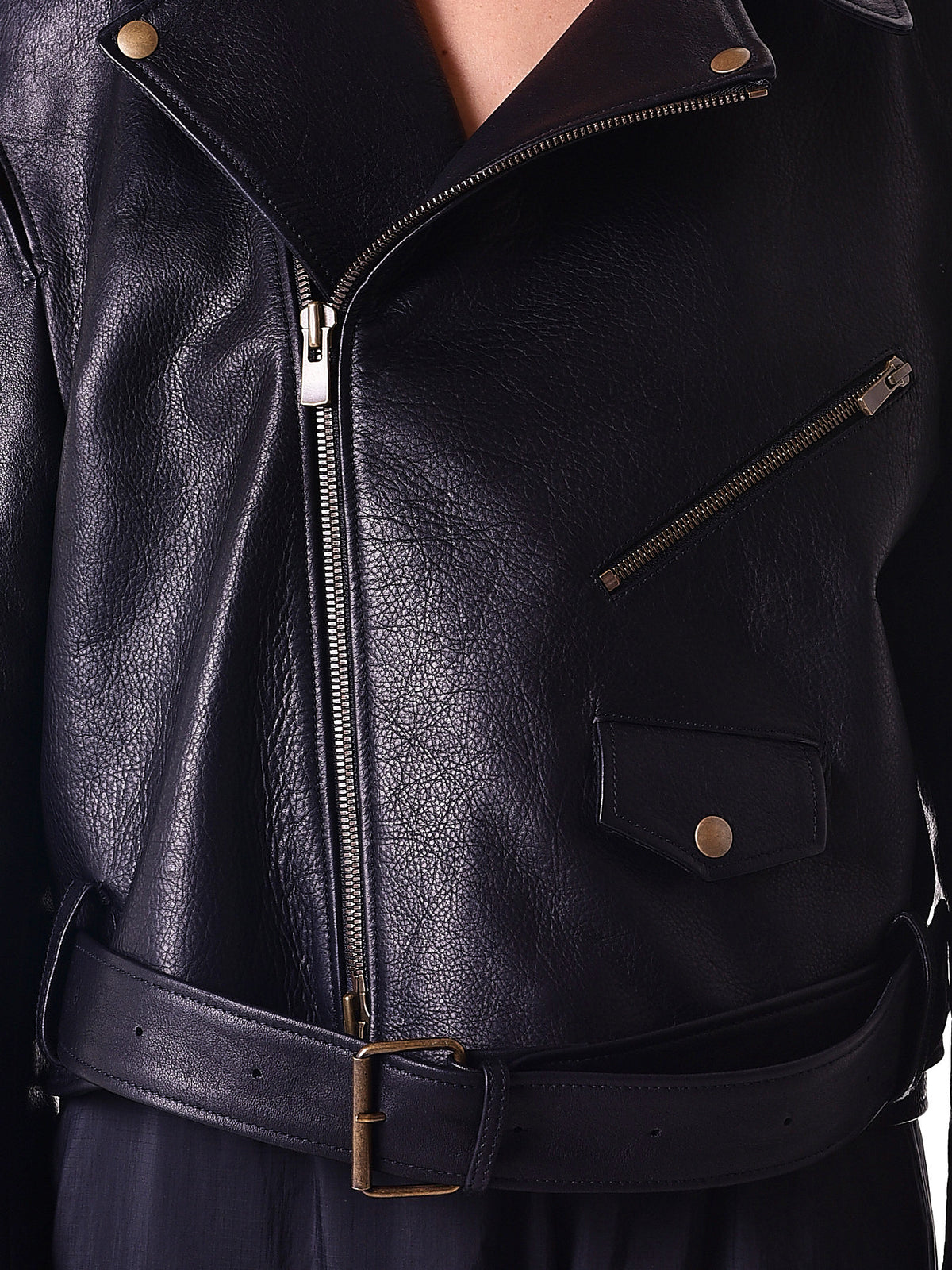 Deconstructed Motorcycle Jacket (JACK11-S12-L1-S12-BLACK)