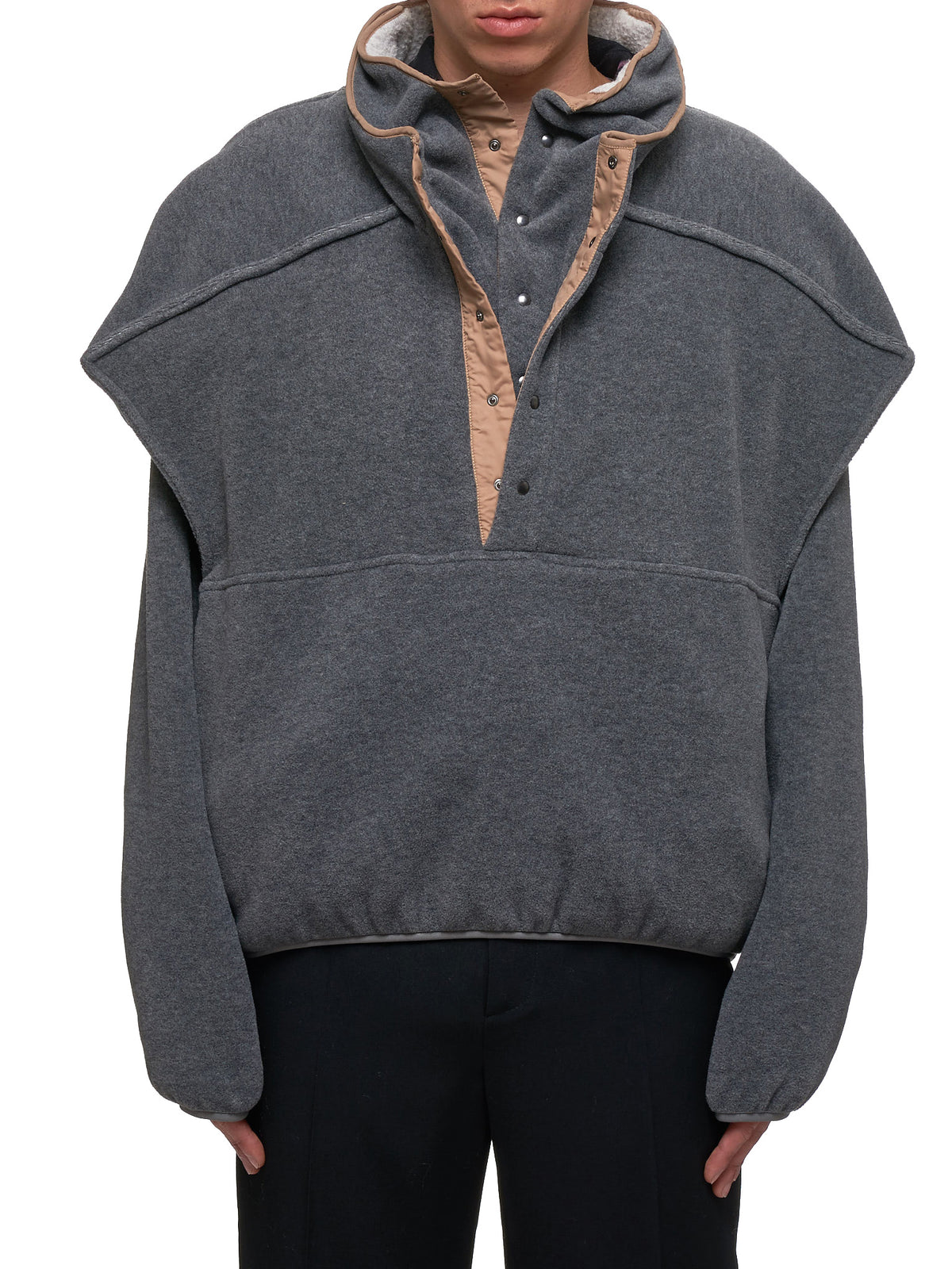 Double-Collar Sweater (JACK50-S17-F57-DARK-GREY)