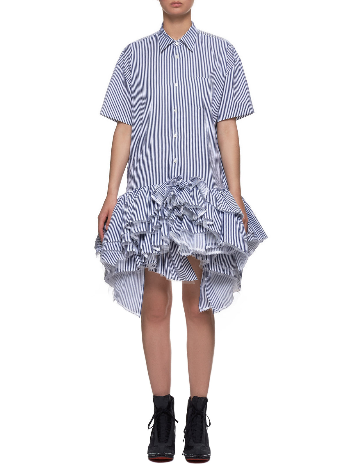 Tutu Dress (JC-O034-051-NAVY-WHITE)
