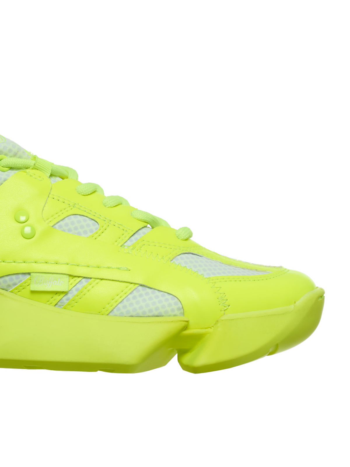 Mesh Panel Sneakers (JE-K102-S20-NEON-YELLOW)