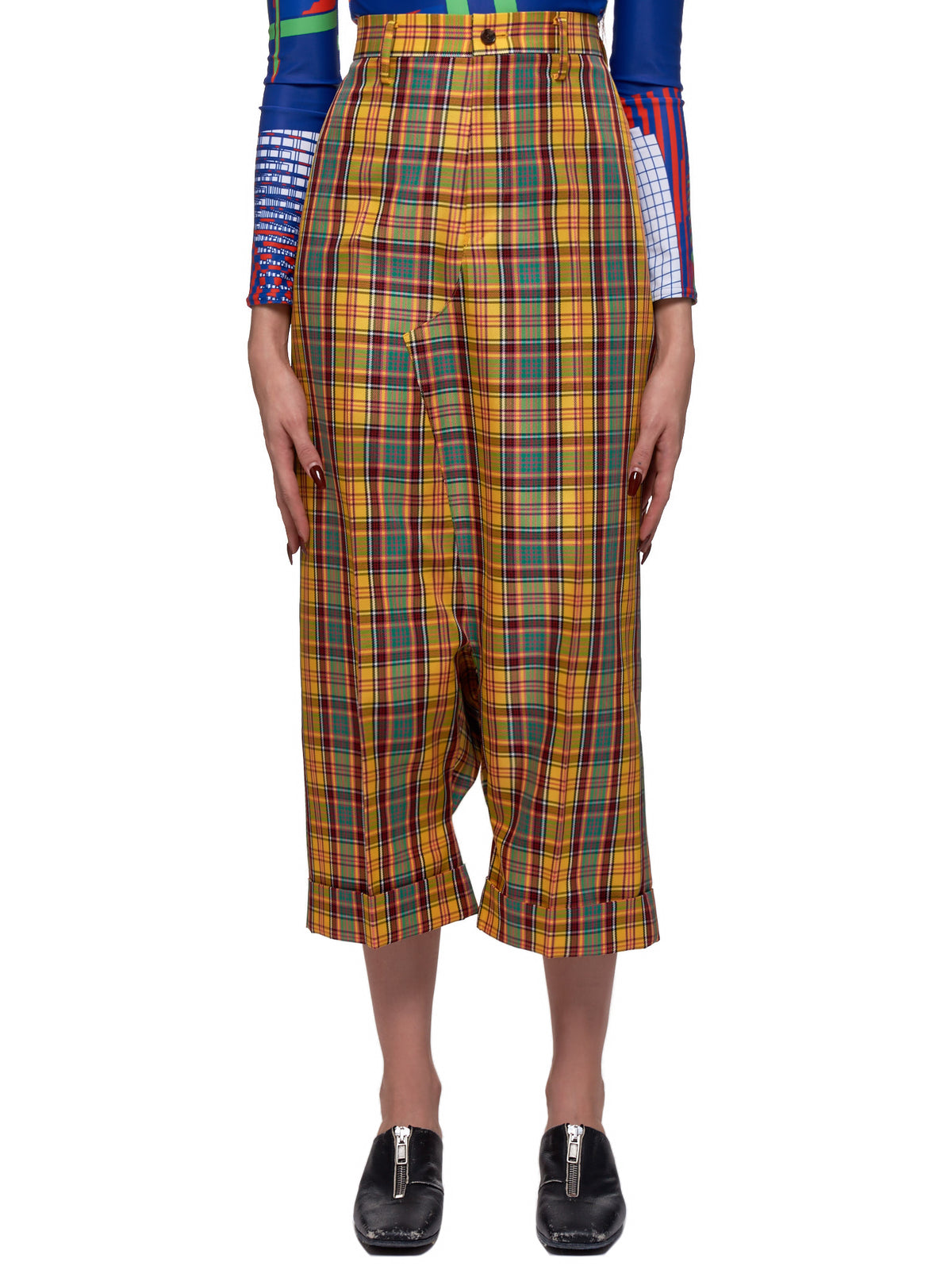 Check Trousers (JE-P006-051-YELLOW)