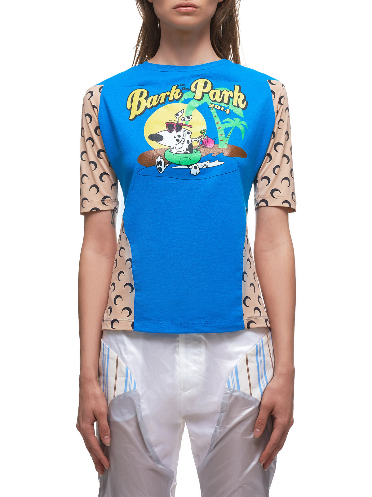Upcycled T-Shirt (JEU28-BARK-IN-THE PARK-BLUE)