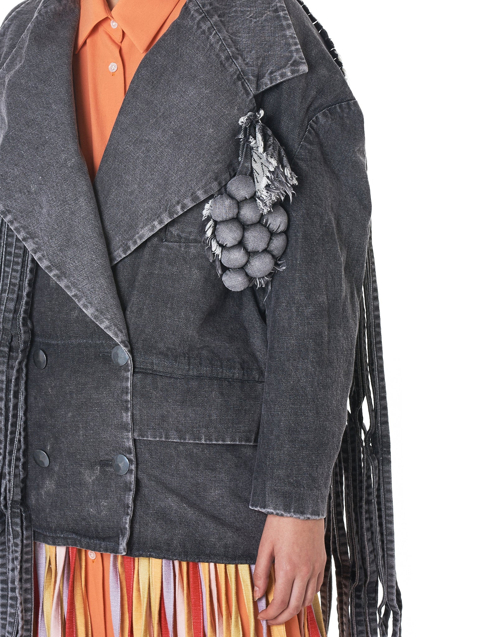 Jenny Fax Denim Jacket - Hlorenzo Detail 4