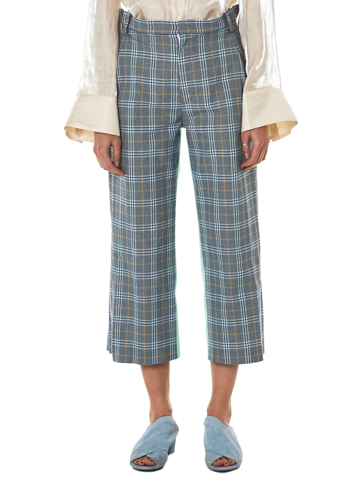 Jenny Fax Check Trouser - Hlorenzo Front